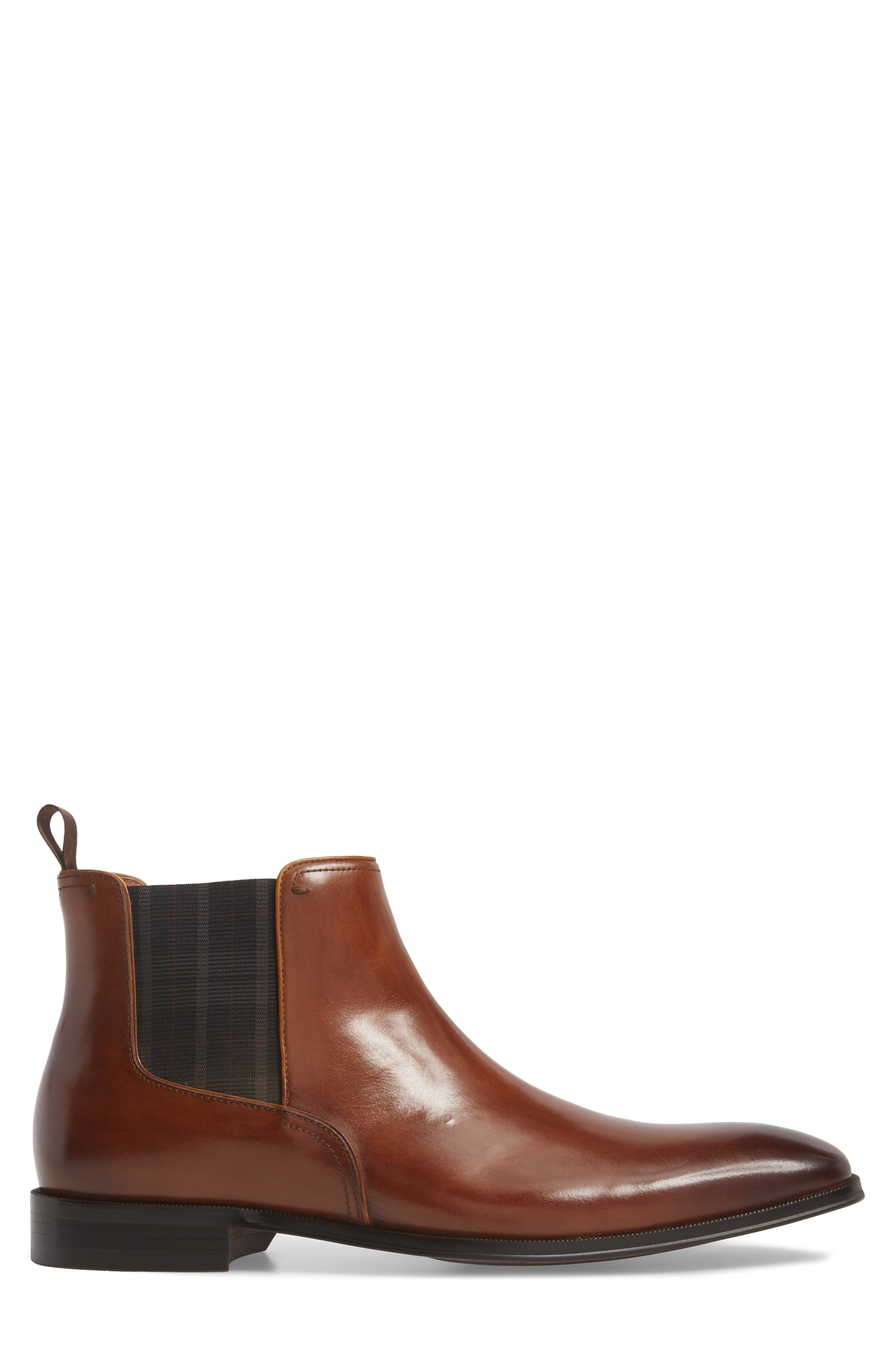 Belfast Chelsea Boot,                             Alternate thumbnail 3, color,                             COGNAC LEATHER