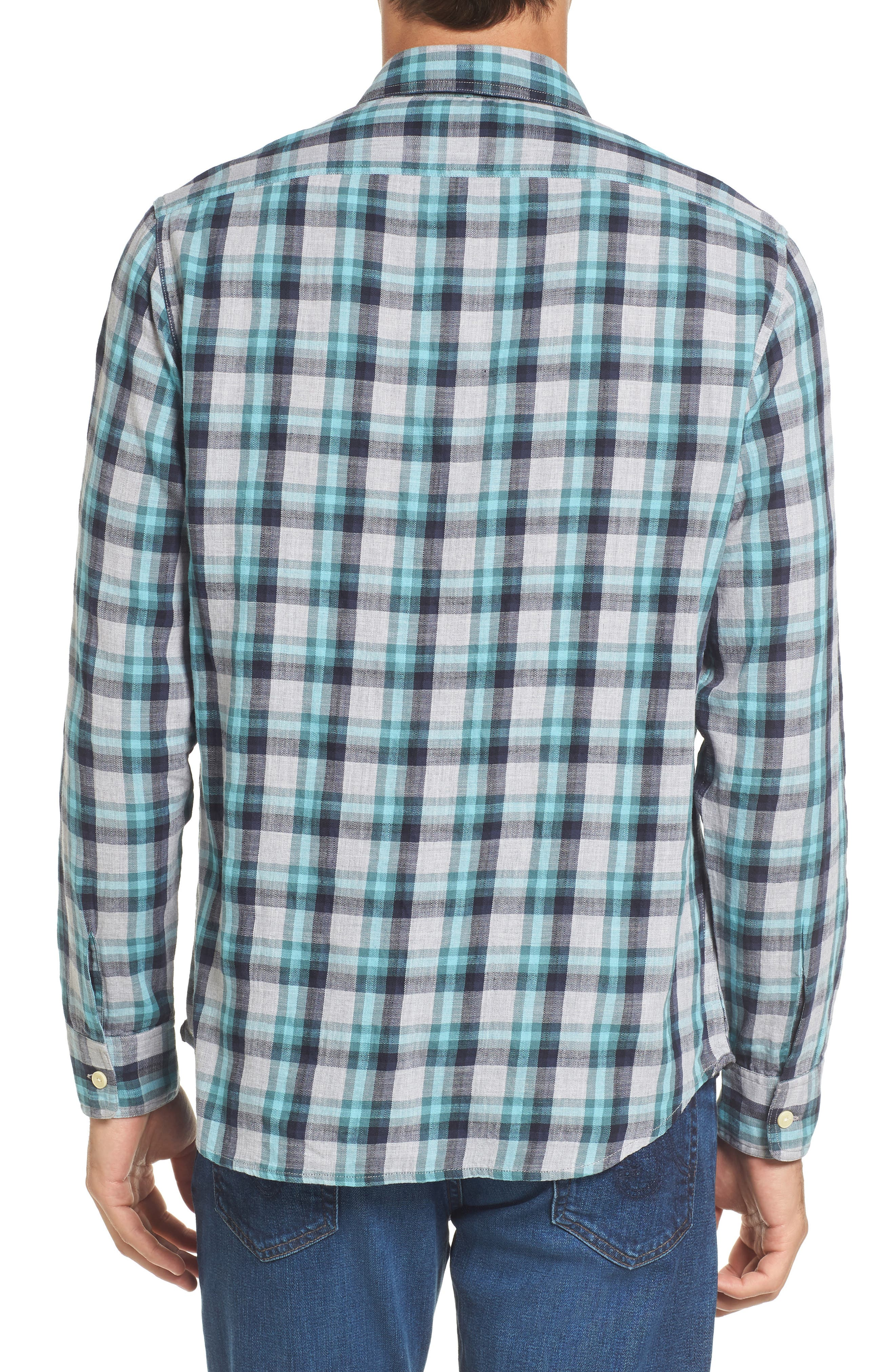 Trevor Modern Fit Slub Twill Sport Shirt,                             Alternate thumbnail 2, color,