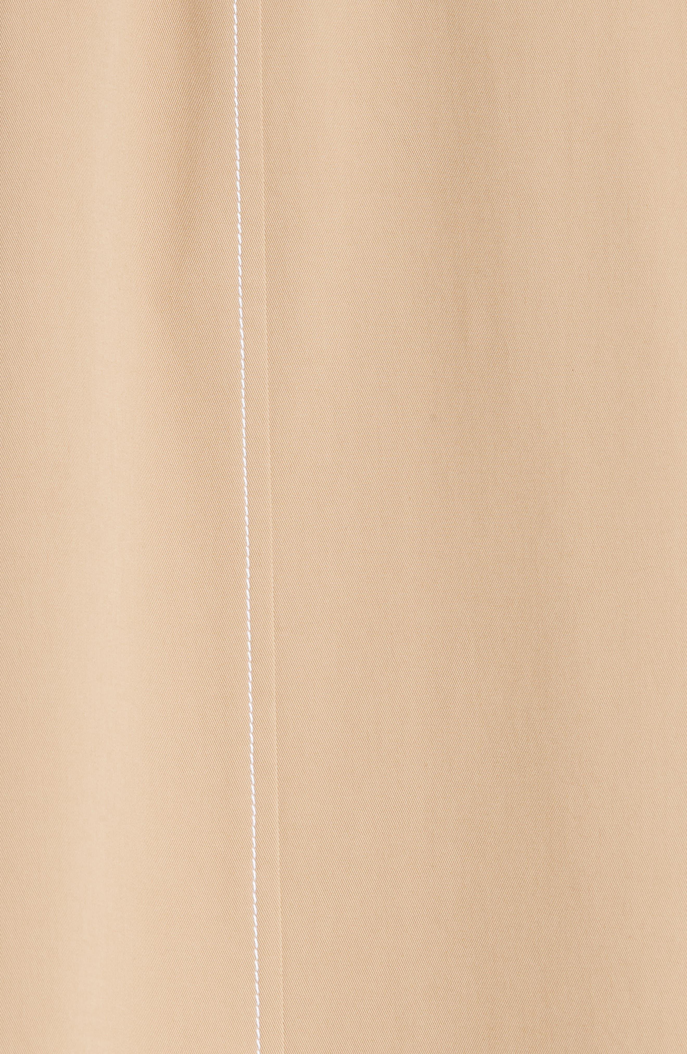 Asher Gabardine Crop Trench Coat,                             Alternate thumbnail 7, color,                             BIRCH
