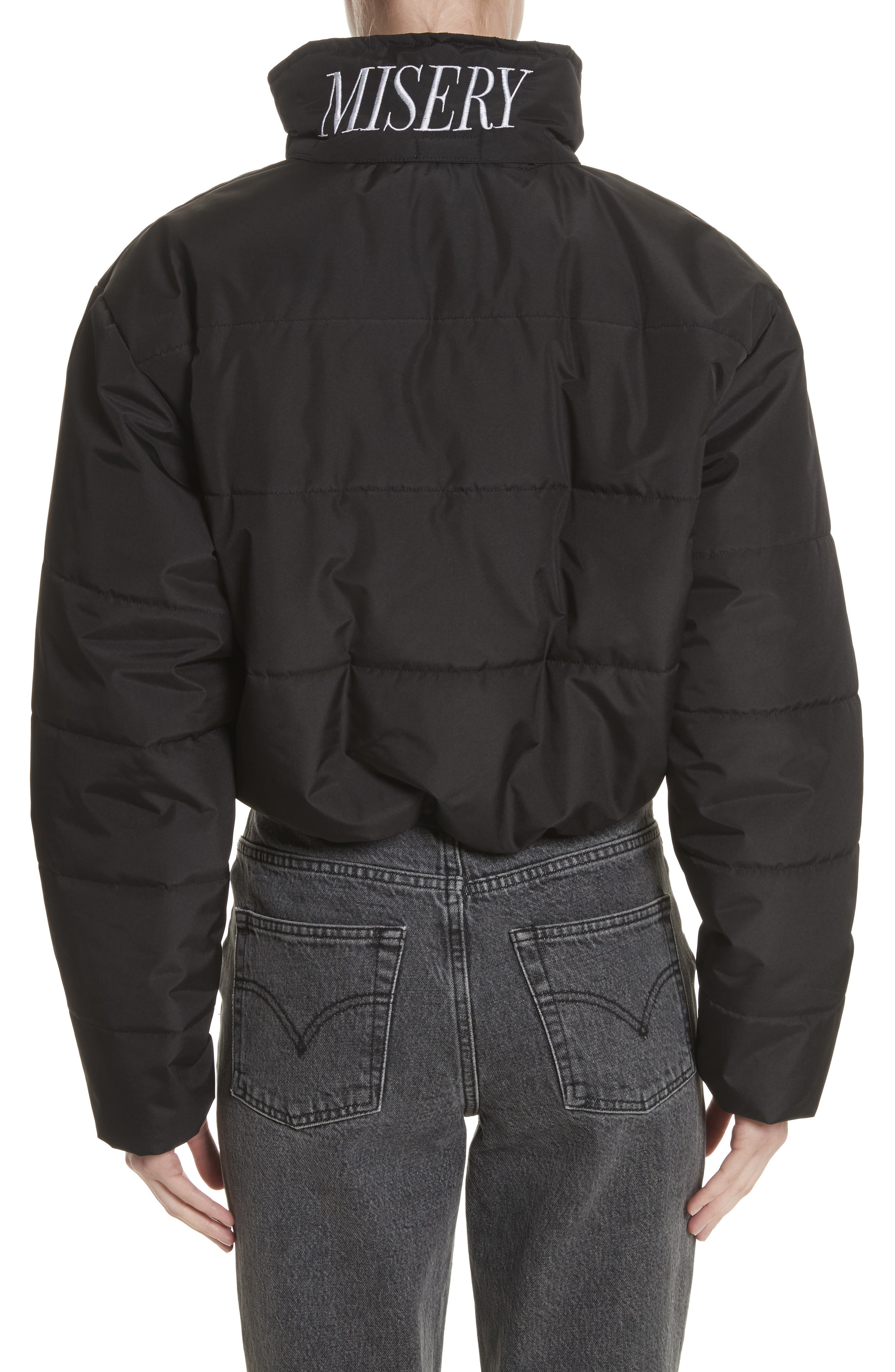 Misery Crop Puffer Coat,                             Alternate thumbnail 2, color,                             001