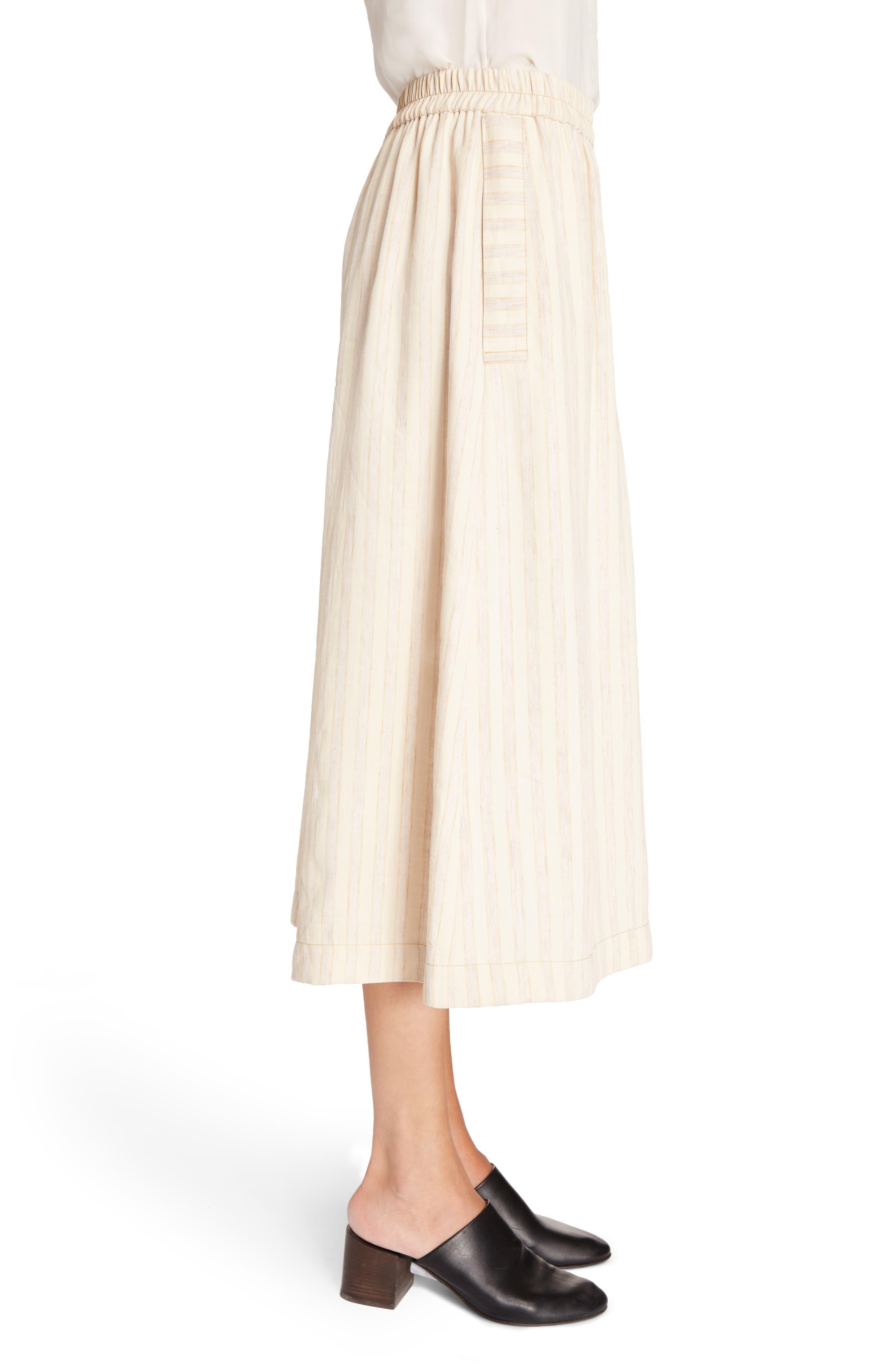 Michela Linen Blend Culottes,                             Alternate thumbnail 3, color,                             250