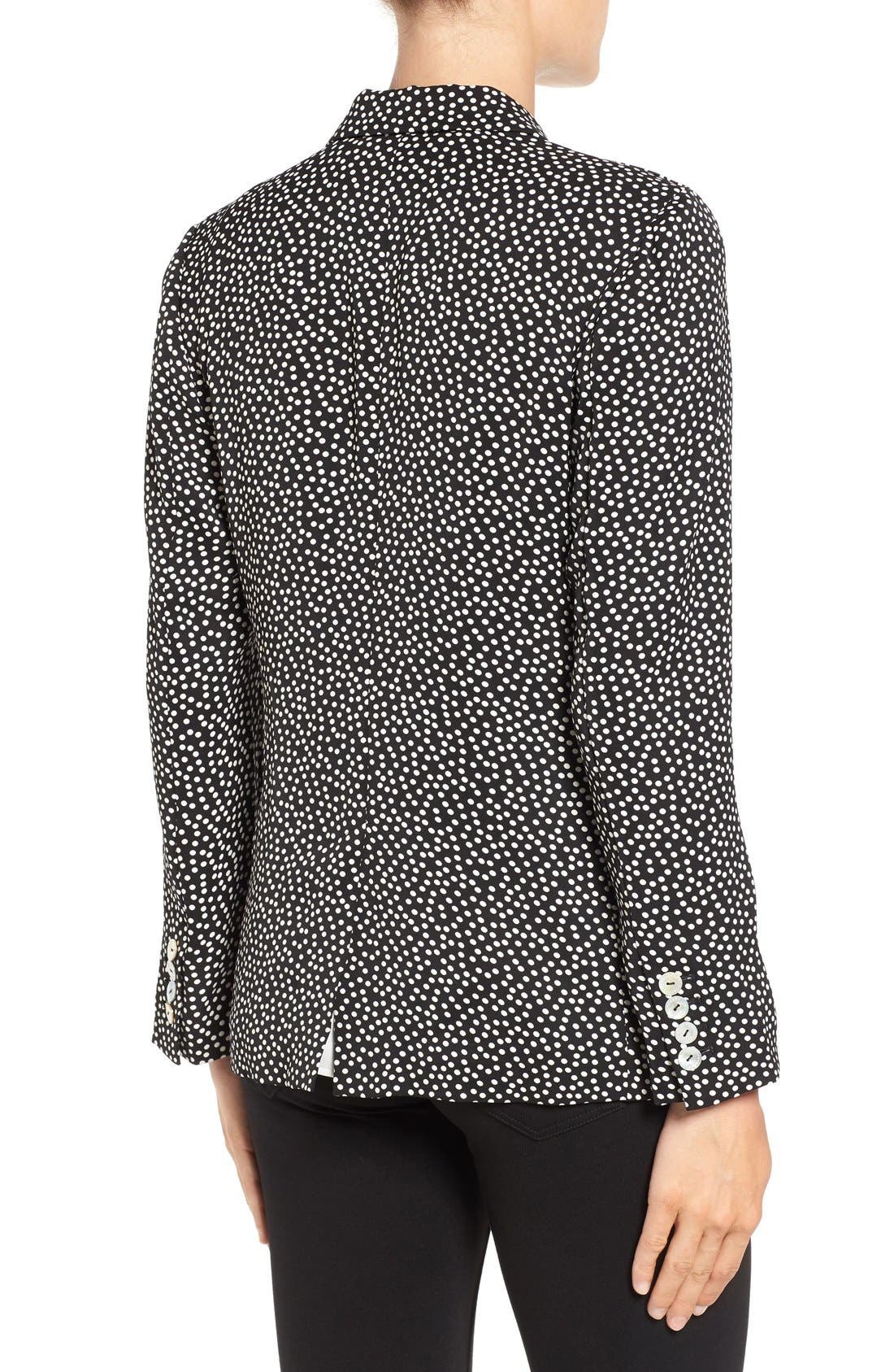 Dot Print Blazer,                             Alternate thumbnail 2, color,                             001