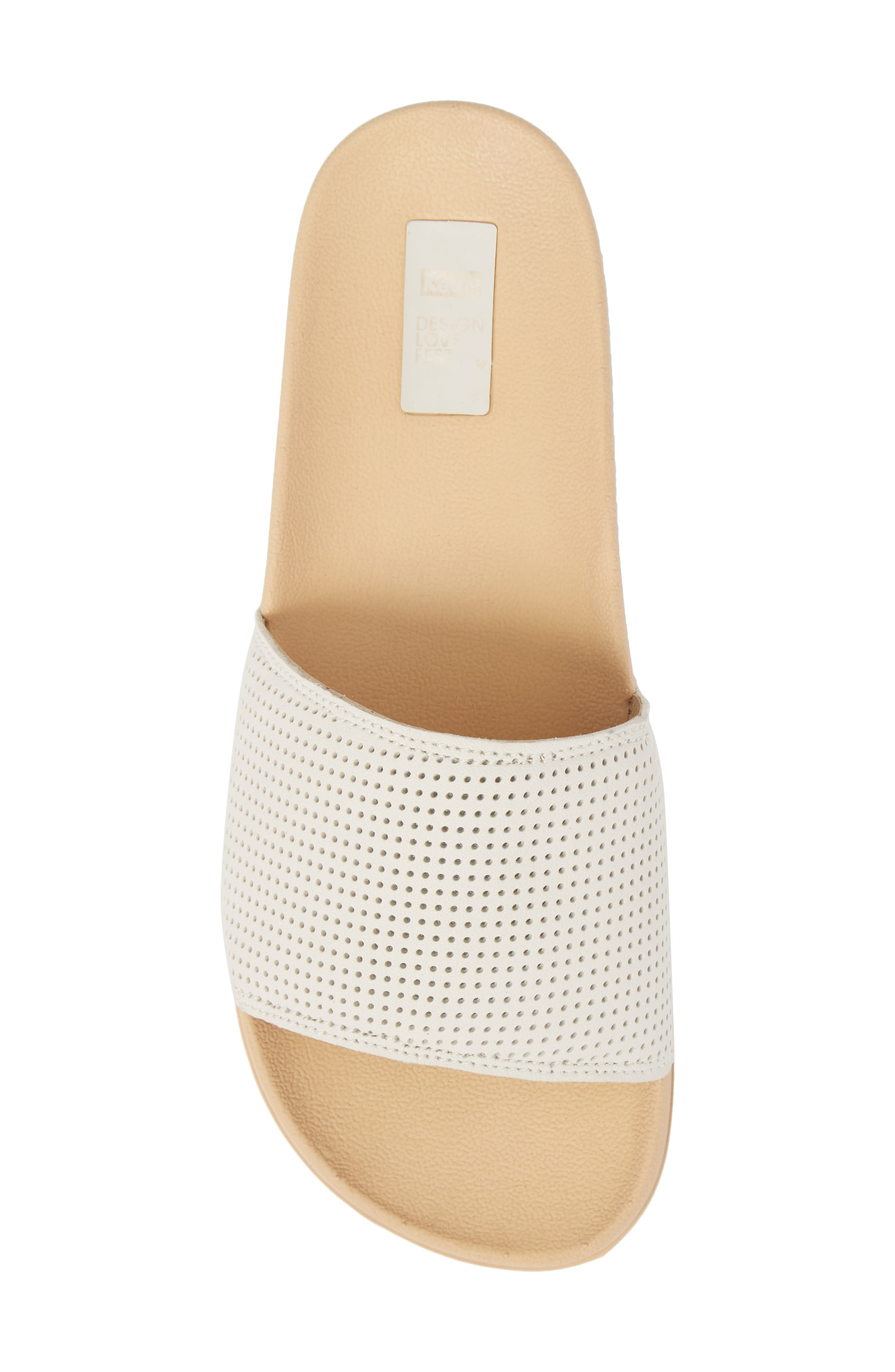 x Designlovefest Bliss Slide Sandal,                             Alternate thumbnail 5, color,                             CREAM/ TAN