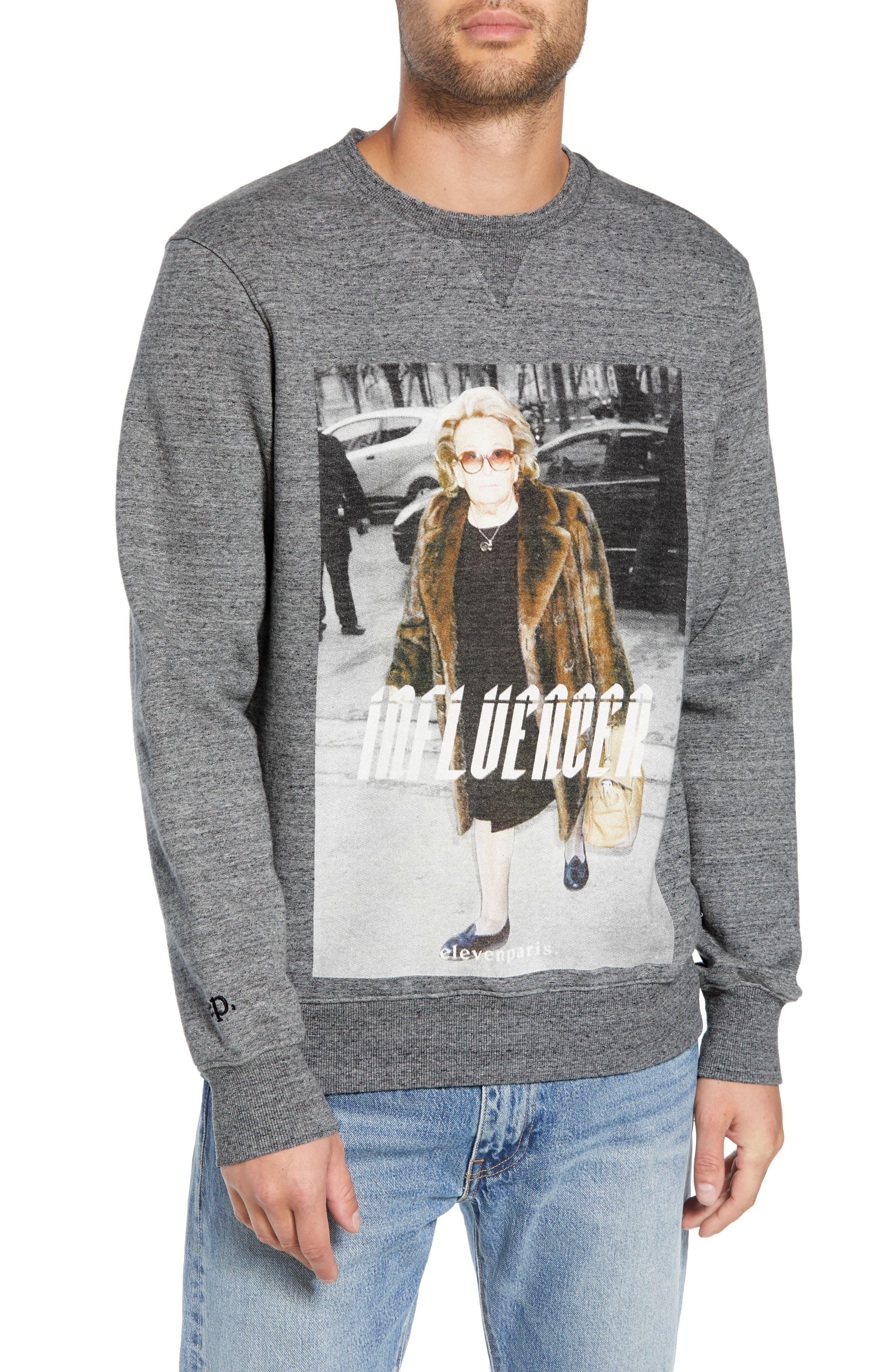 ELEVENPARIS Influencer Graphic Sweatshirt in Grey