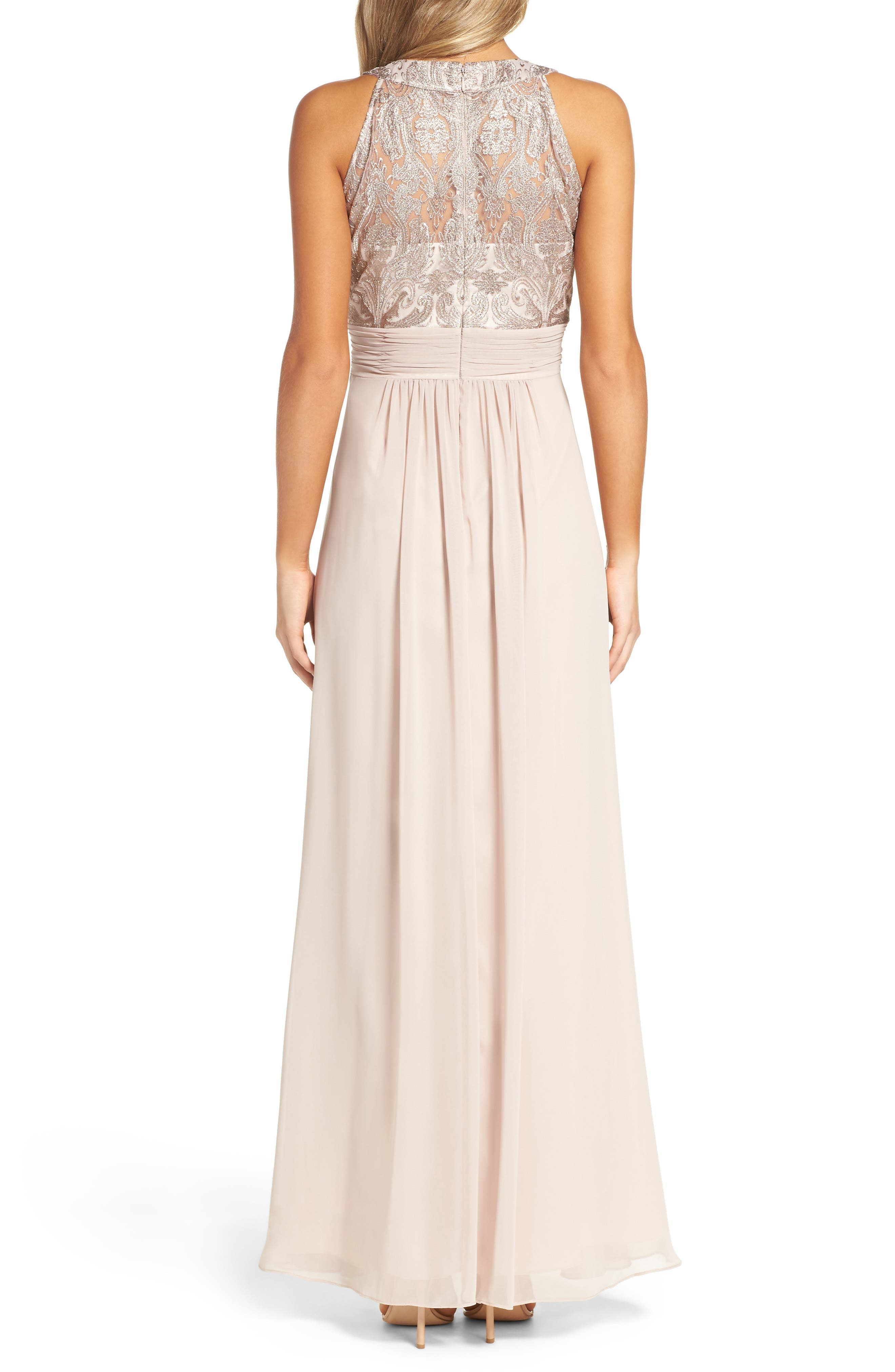 Lace Bodice Gown,                             Alternate thumbnail 7, color,