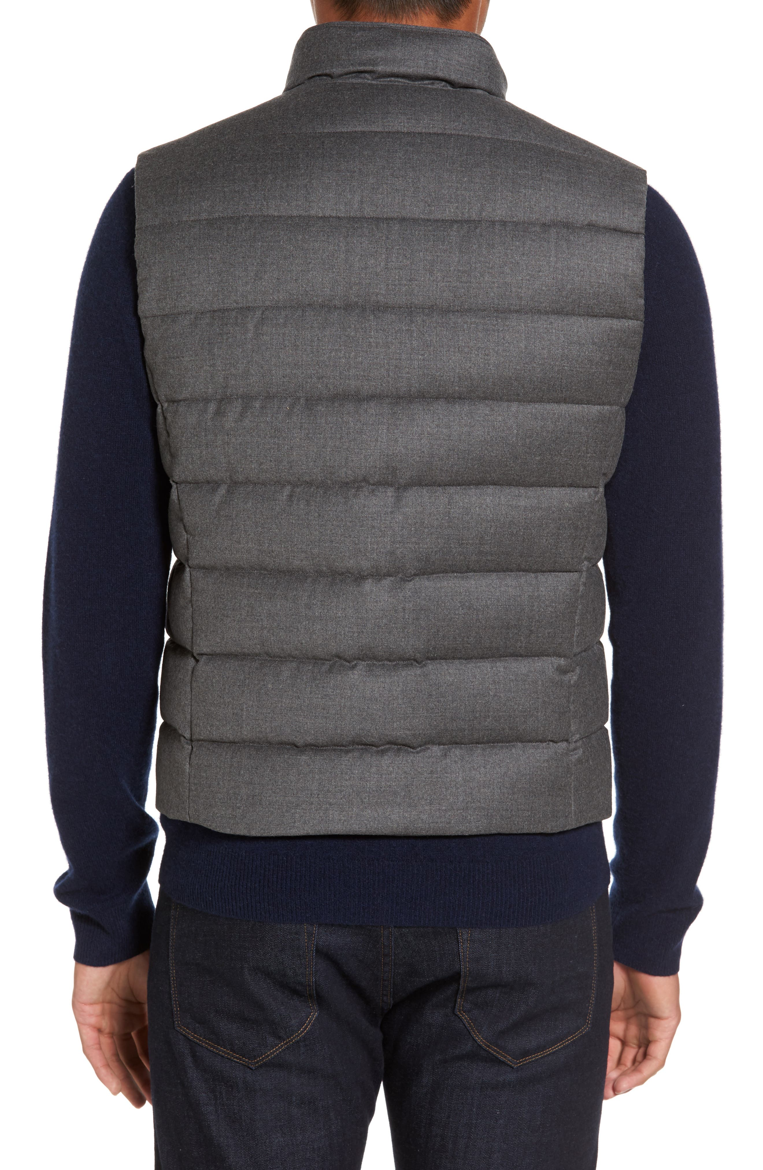 Oliver L Wool & Cashmere Flannel Waterproof Vest,                             Alternate thumbnail 2, color,                             030