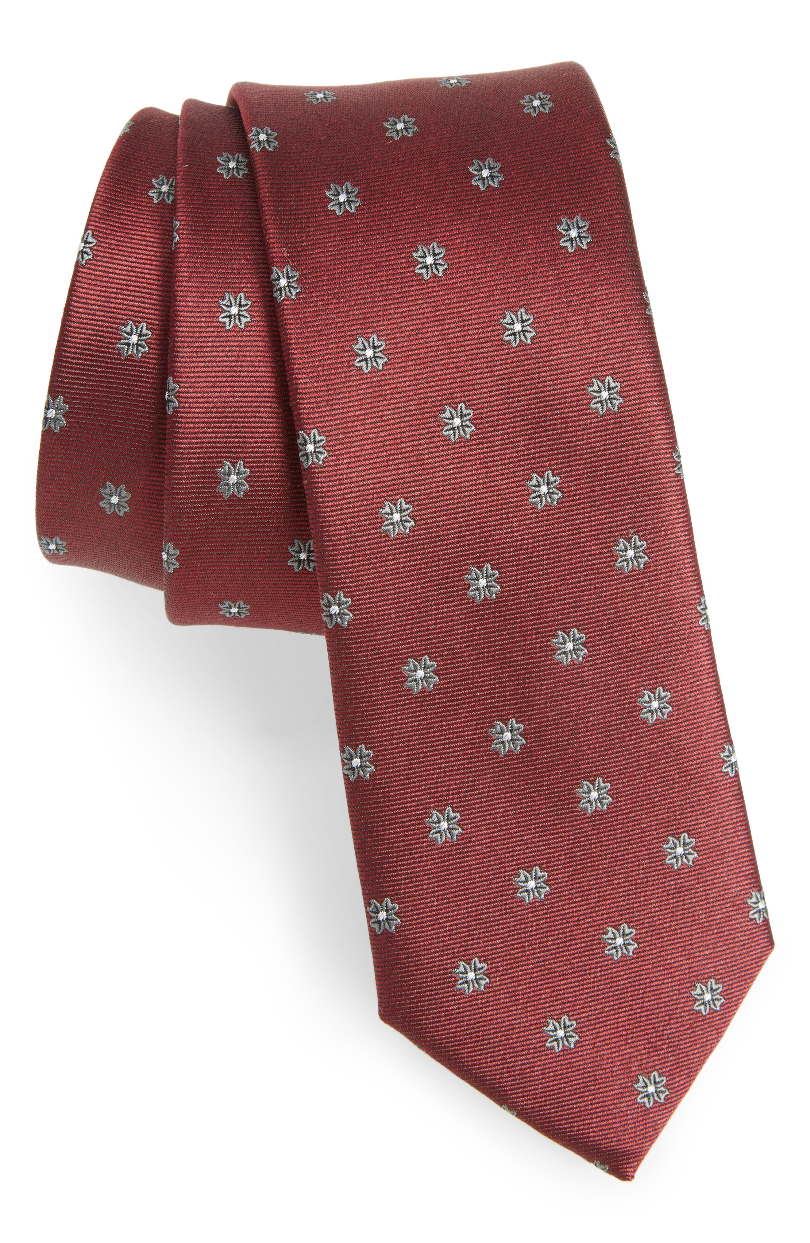Floral Span Medallion Silk Tie,                             Main thumbnail 4, color,