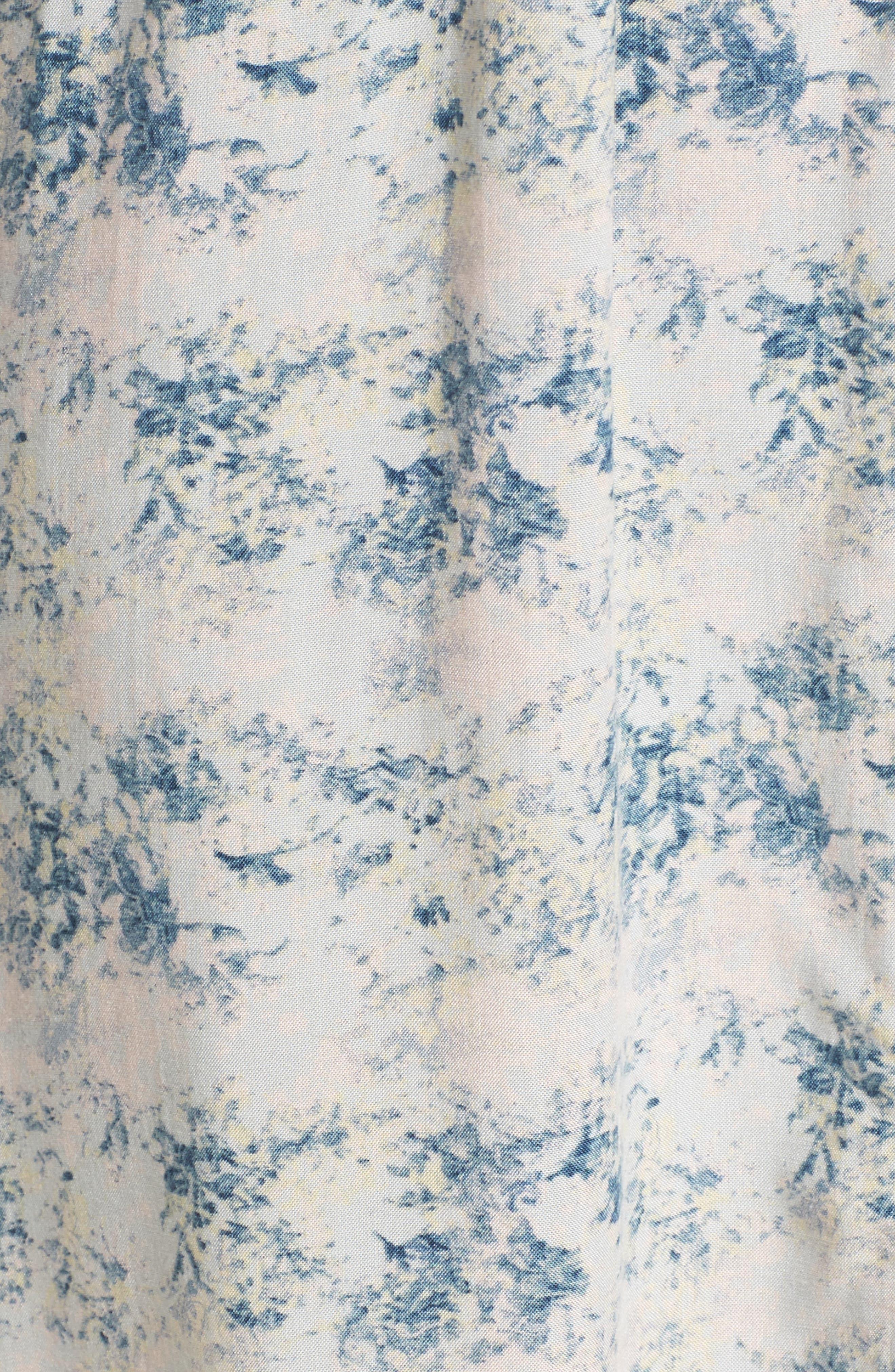 PAPINELLE,                             Floral Print Sleep Shirt,                             Alternate thumbnail 5, color,                             403
