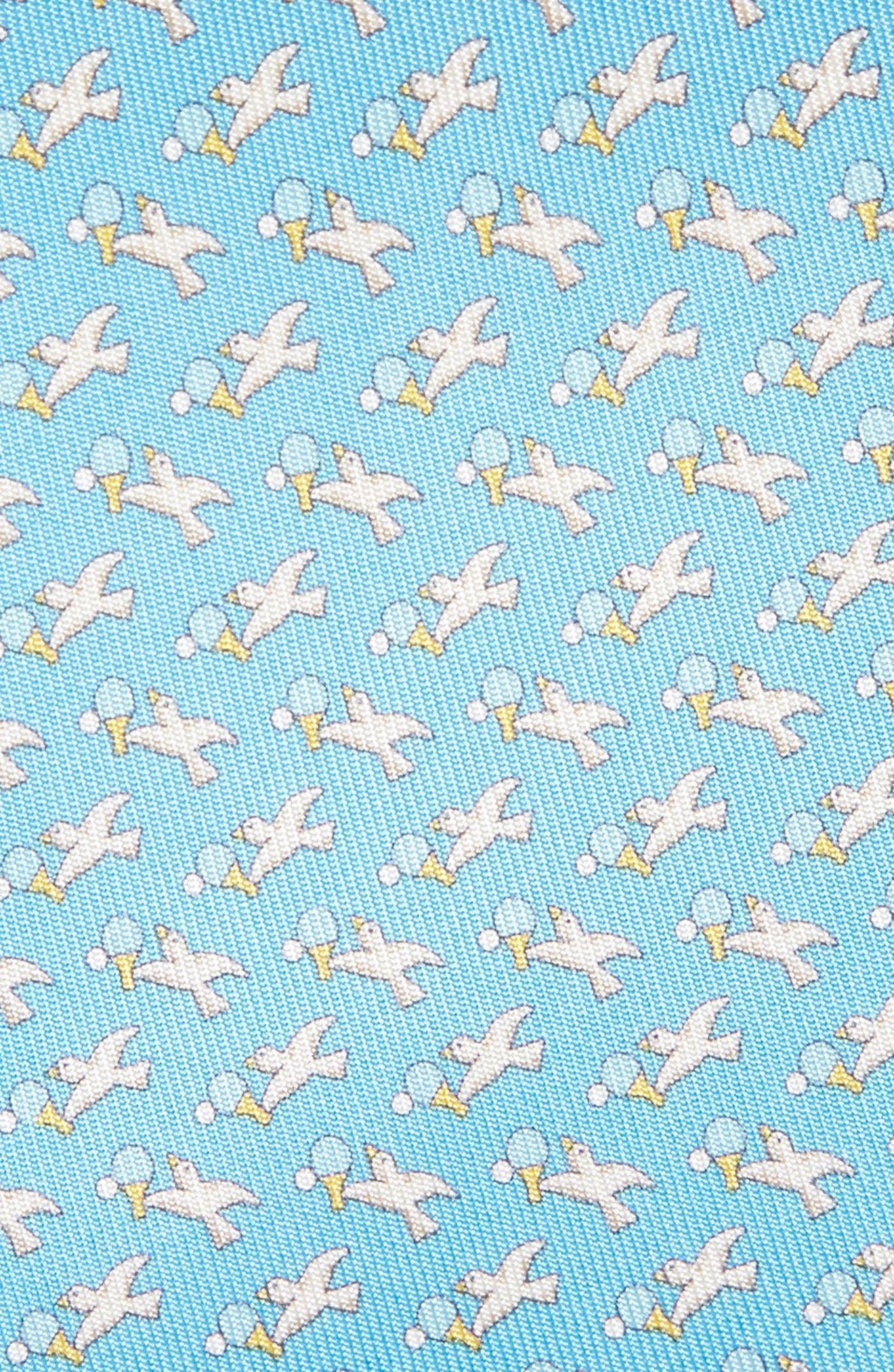 Eloise Print Silk Tie,                             Alternate thumbnail 7, color,