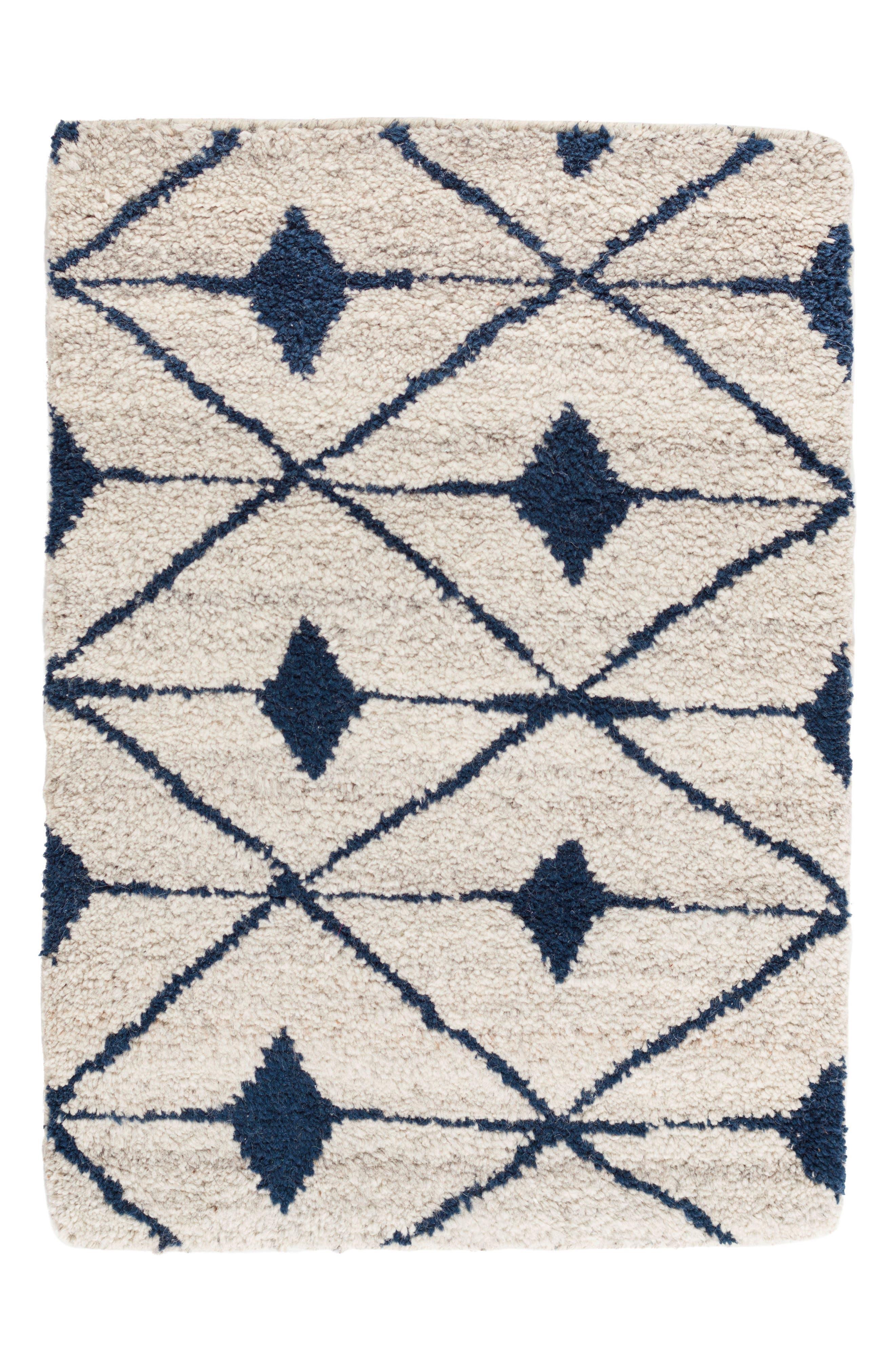 Kenitra Hand Knotted Rug,                             Main thumbnail 1, color,                             INDIGO