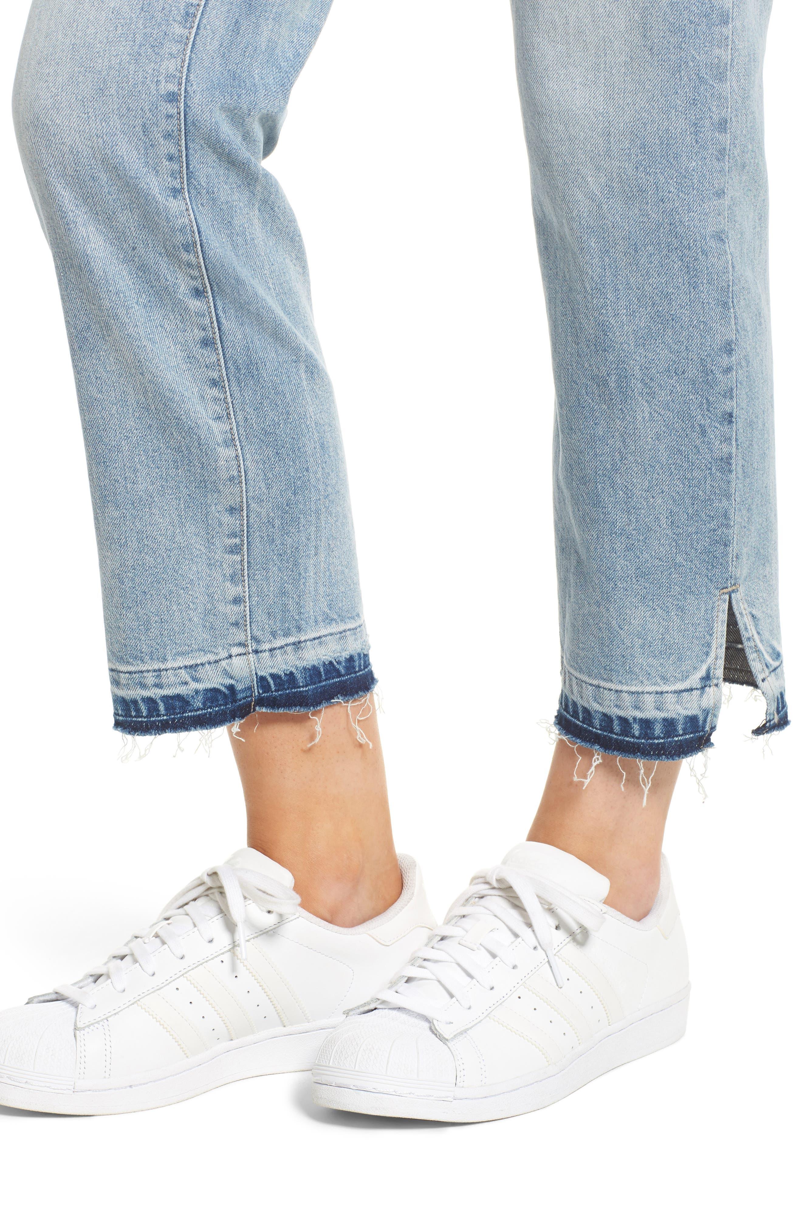 Patti Crop Straight Leg Jeans,                             Alternate thumbnail 4, color,                             430