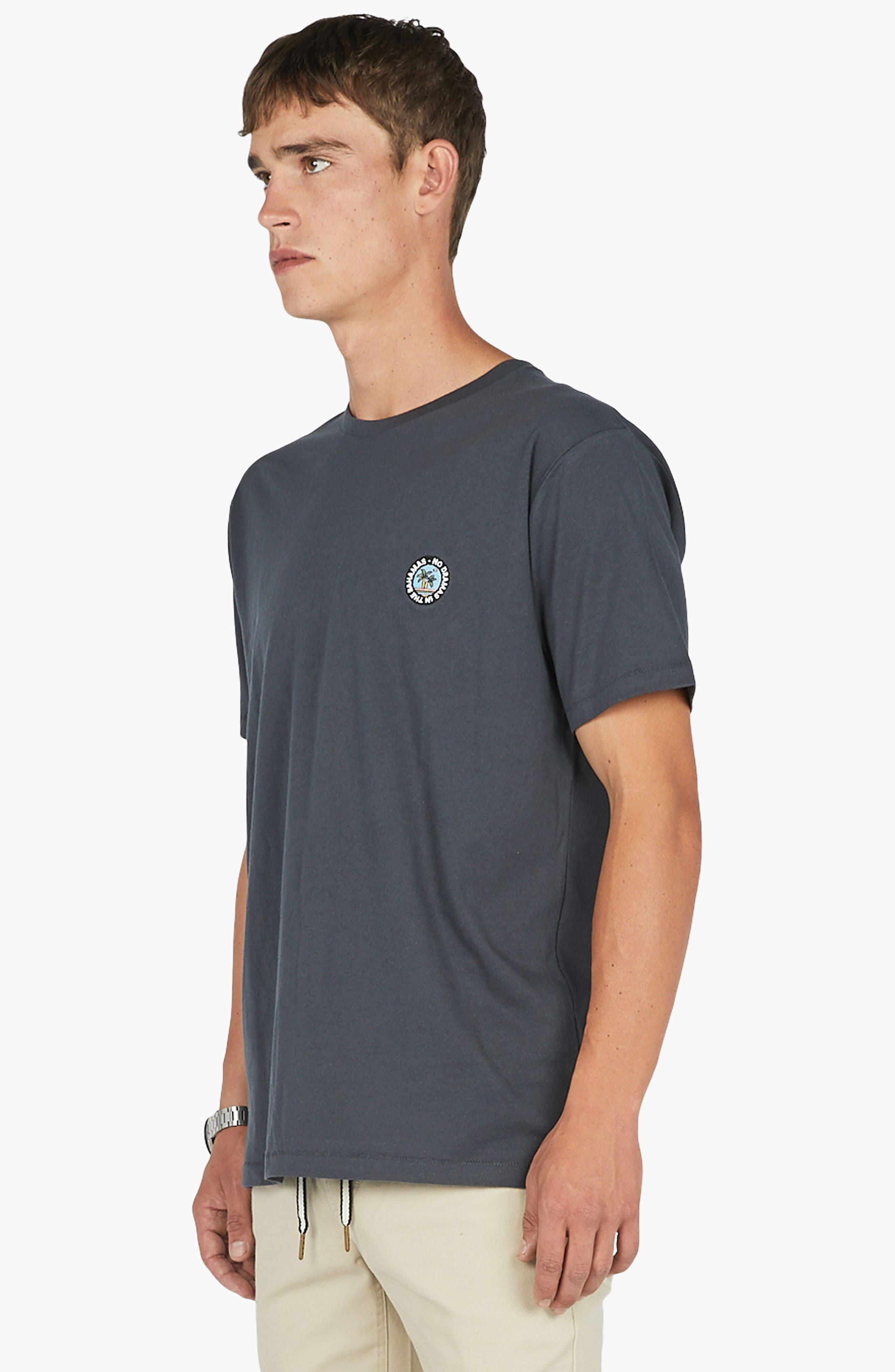 No Drama Badge T-Shirt,                             Alternate thumbnail 4, color,                             001