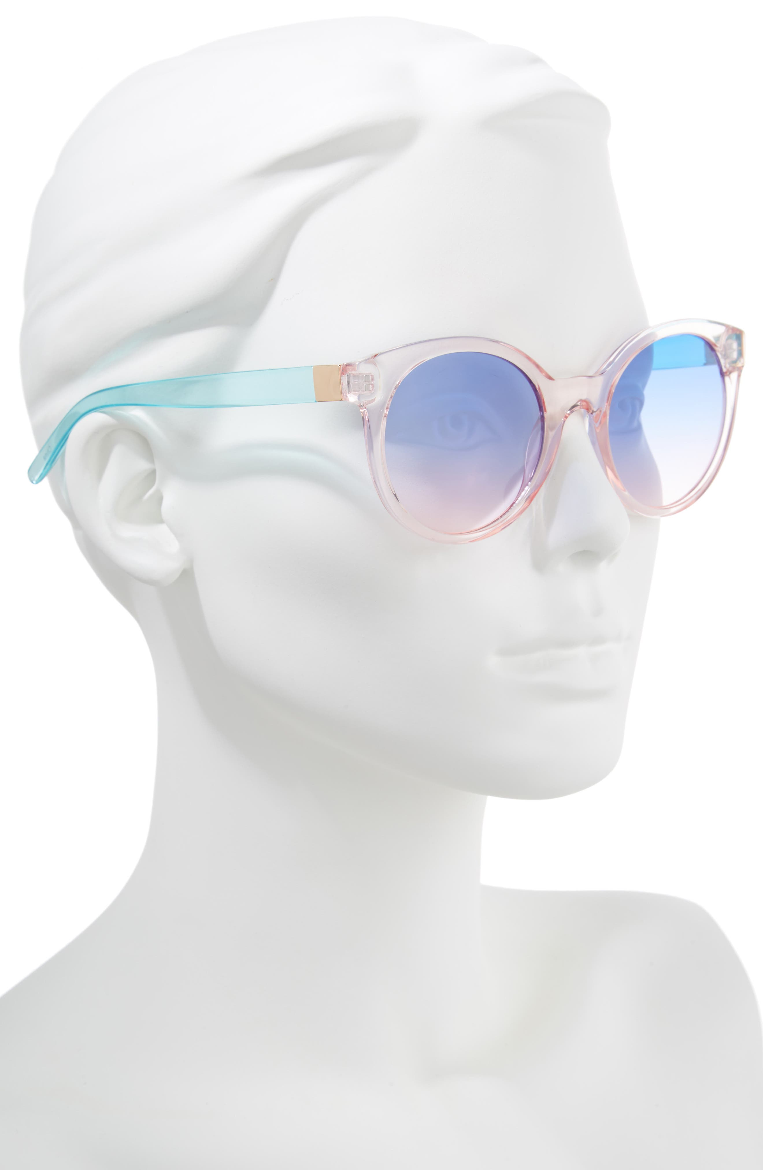 Transparent Round Sunglasses,                             Alternate thumbnail 2, color,                             100