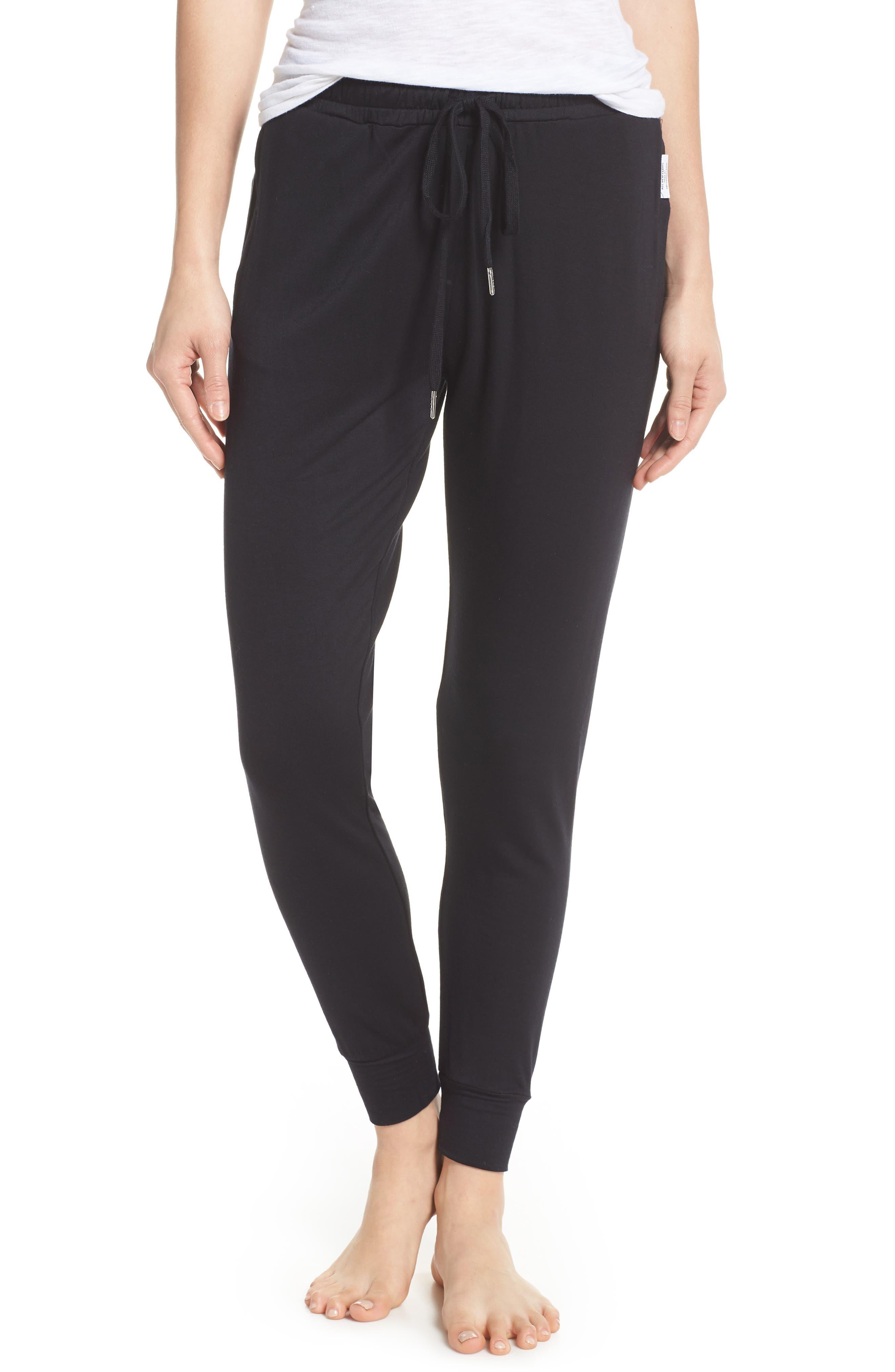 Lounge Pants,                         Main,                         color, BLACK