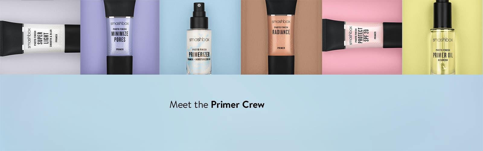 Meet the Smashbox primer crew.