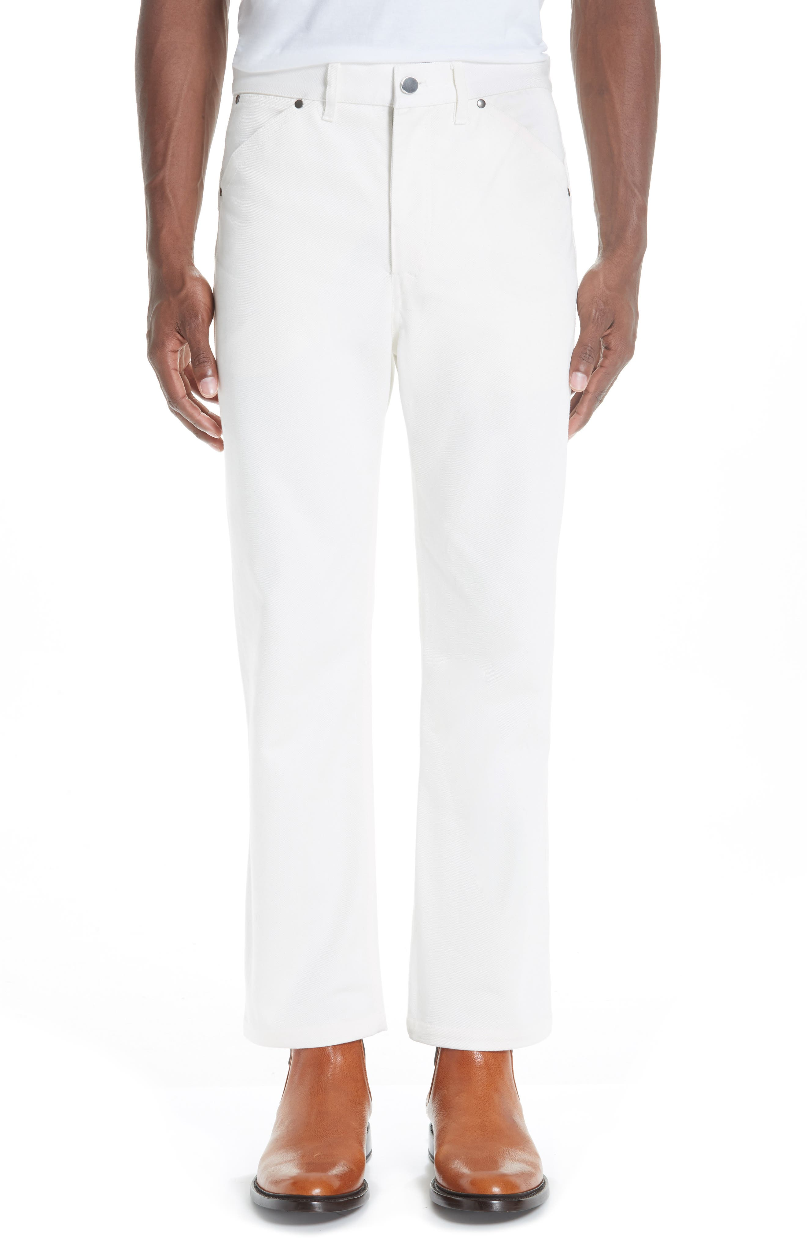 Twill Denim Jeans,                         Main,                         color, OFF WHITE