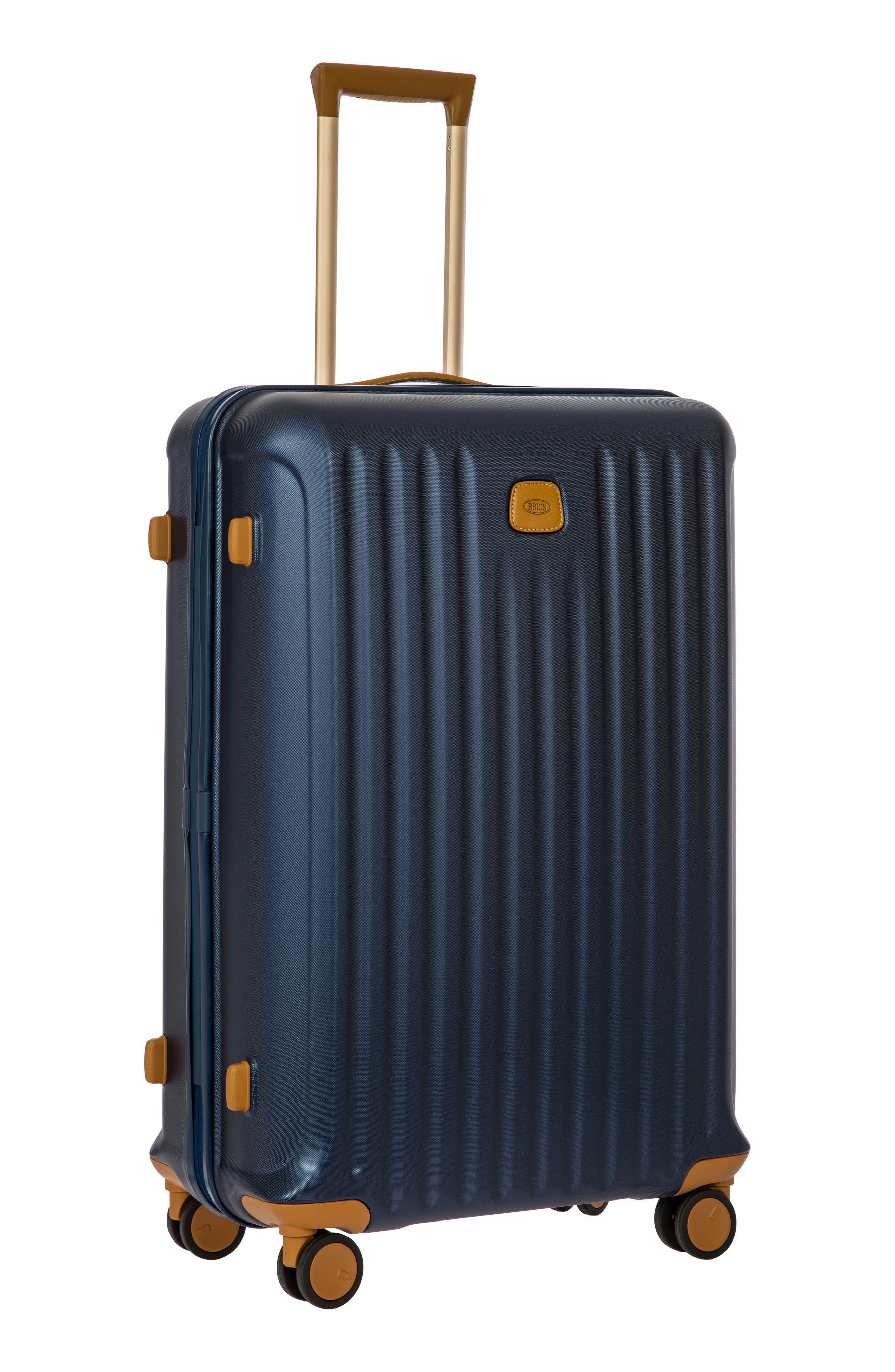 Capri 30-Inch Rolling Suitcase,                             Alternate thumbnail 7, color,                             MATTE BLUE