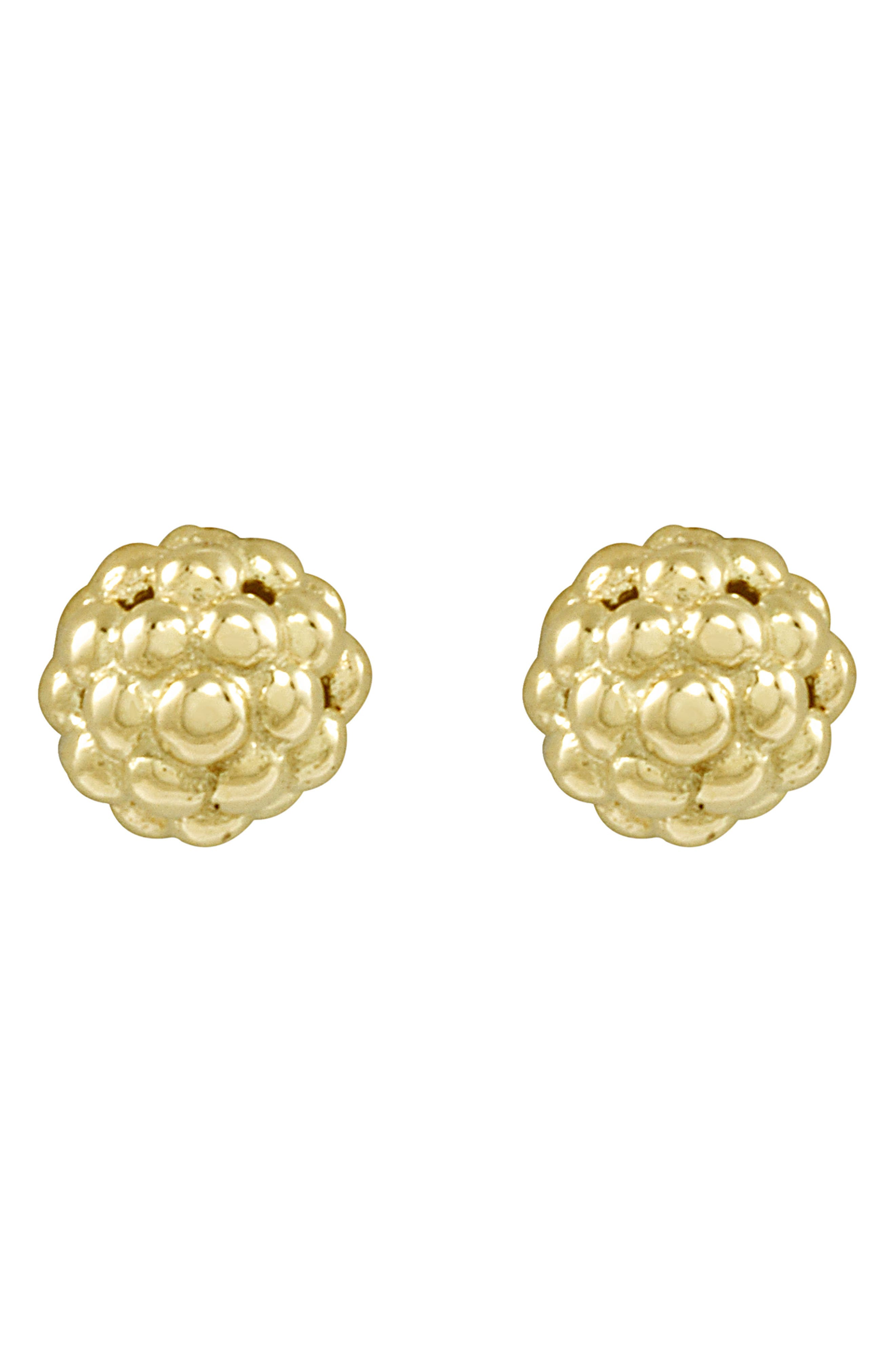 'Caviar Icon' Stud Earrings,                             Alternate thumbnail 5, color,                             GOLD