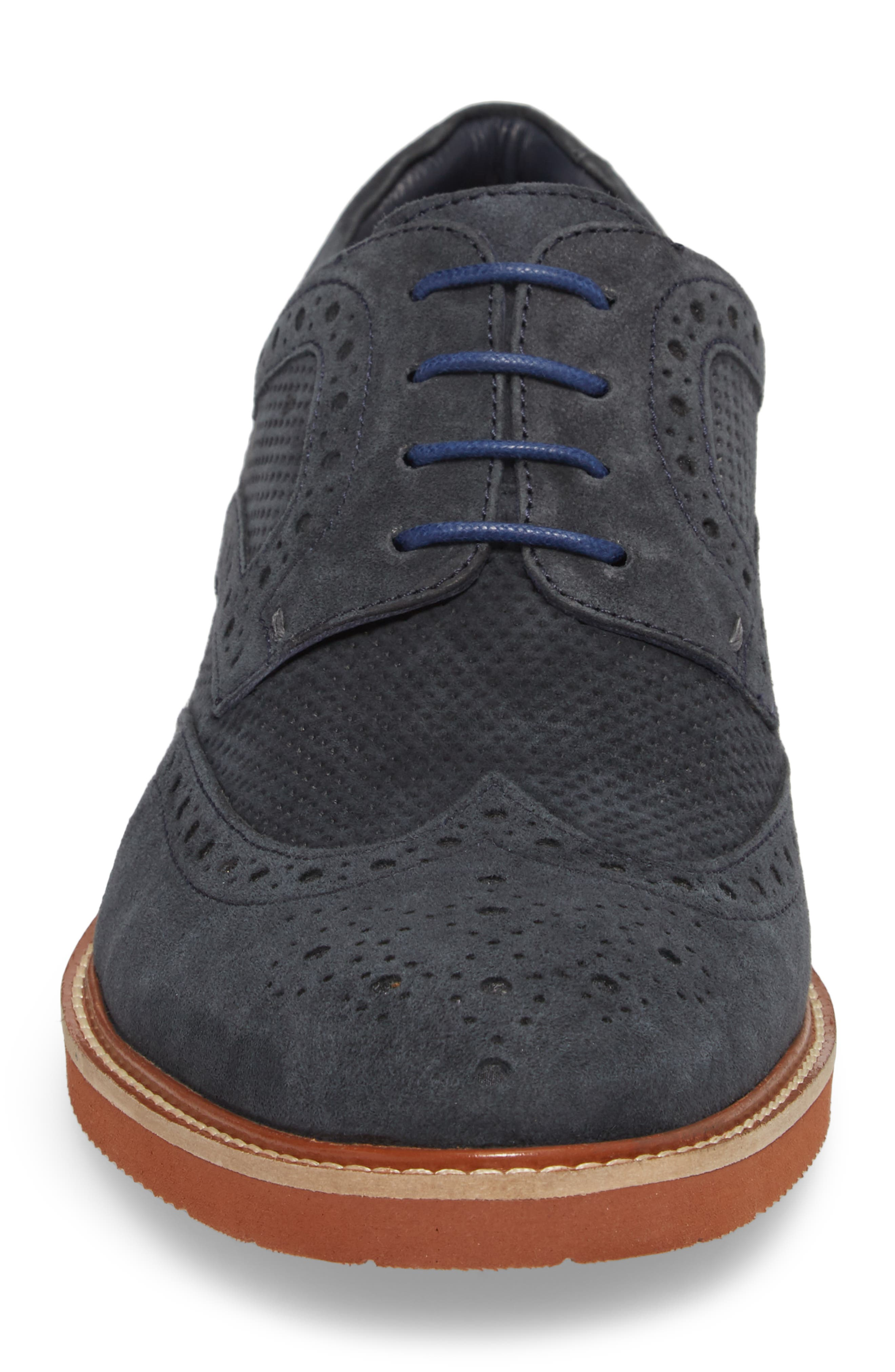 Shaw Perforated Wingtip Derby,                             Alternate thumbnail 8, color,