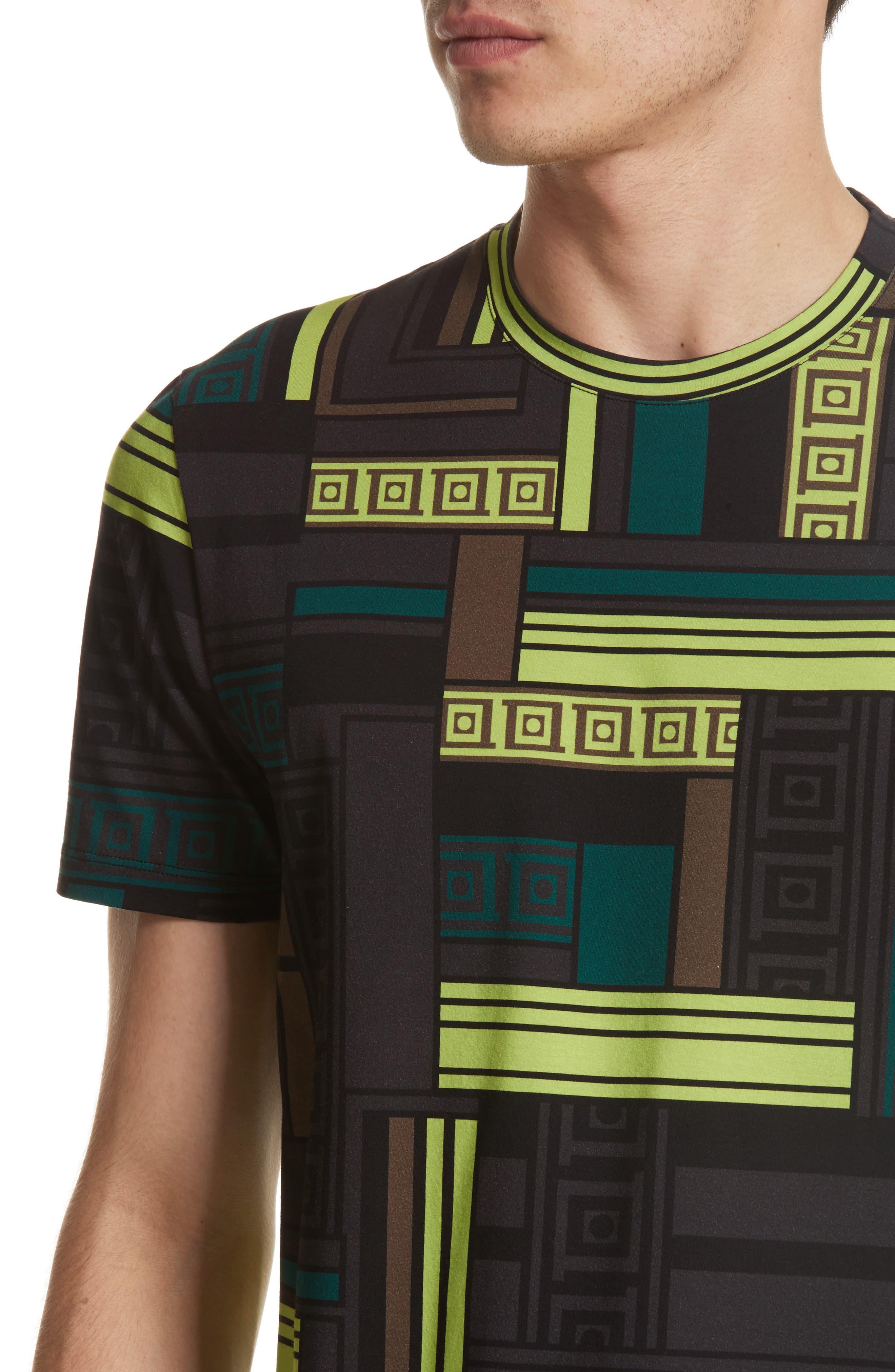 Allover Frame Print T-Shirt,                             Alternate thumbnail 4, color,                             333