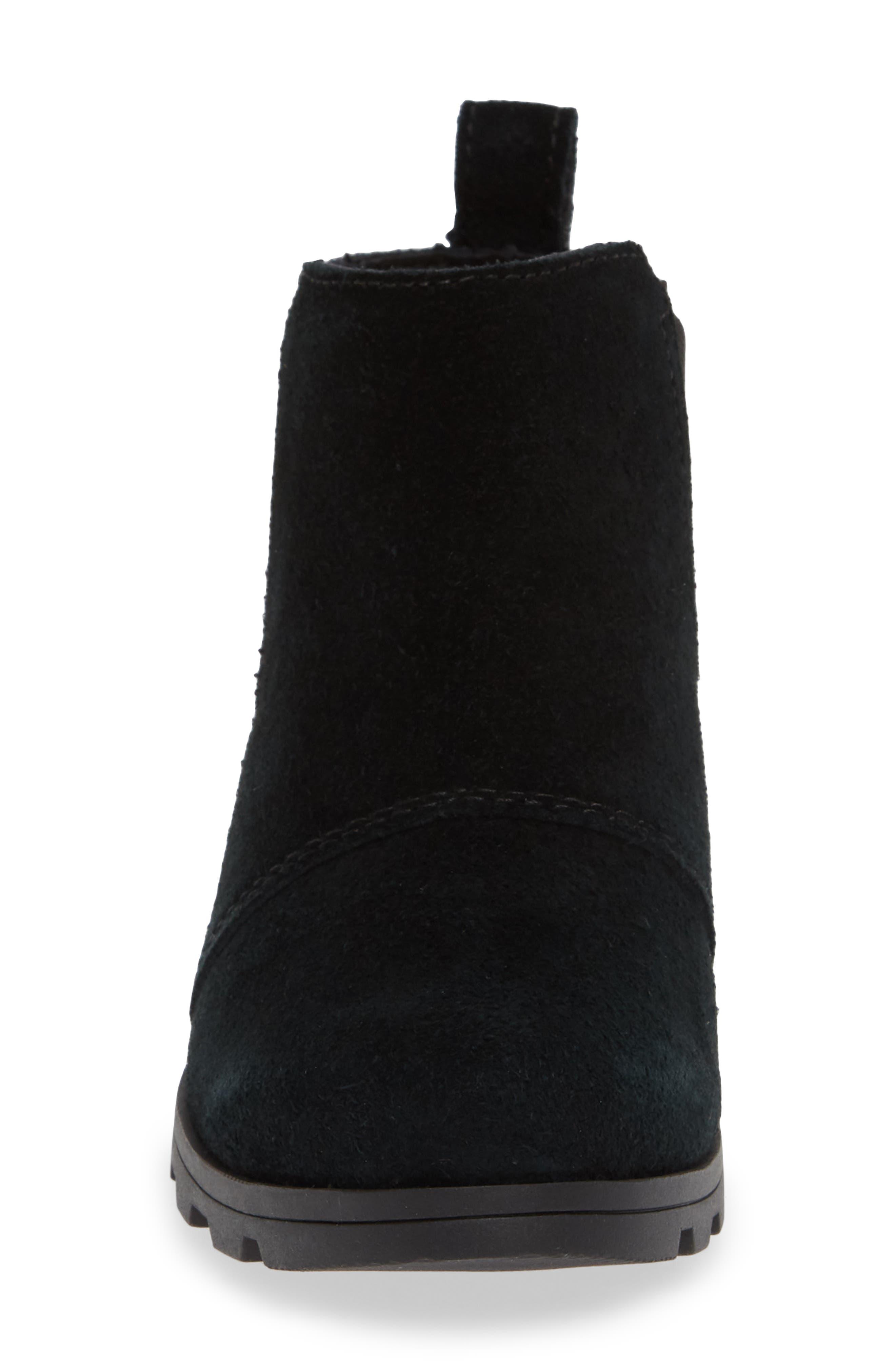 Emelie Waterproof Chelsea Boot,                             Alternate thumbnail 4, color,                             BLACK