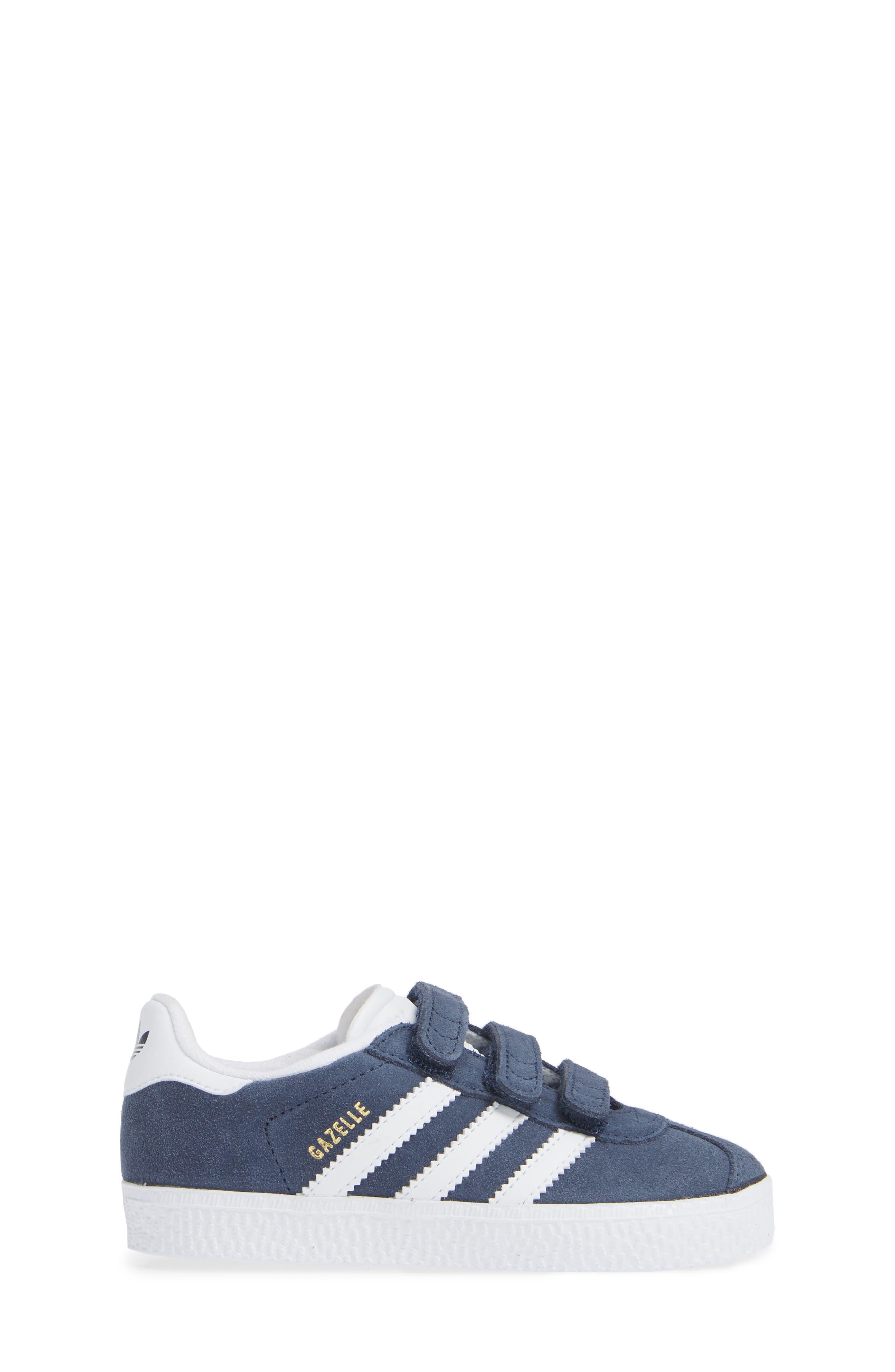 Gazelle Sneaker,                             Alternate thumbnail 3, color,                             NAVY/ WHITE