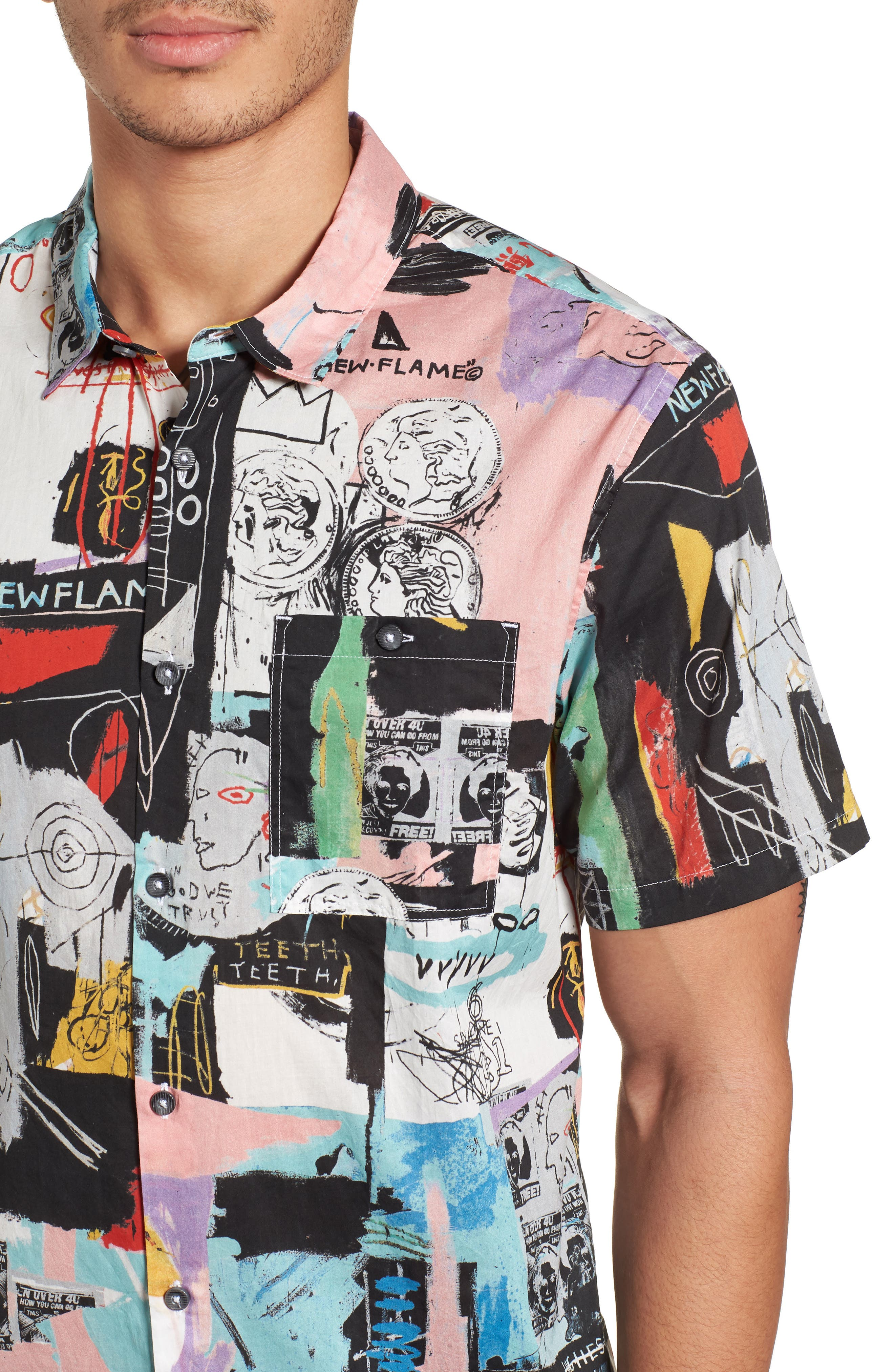 x Warhol Factory Shirt,                             Alternate thumbnail 4, color,                             001
