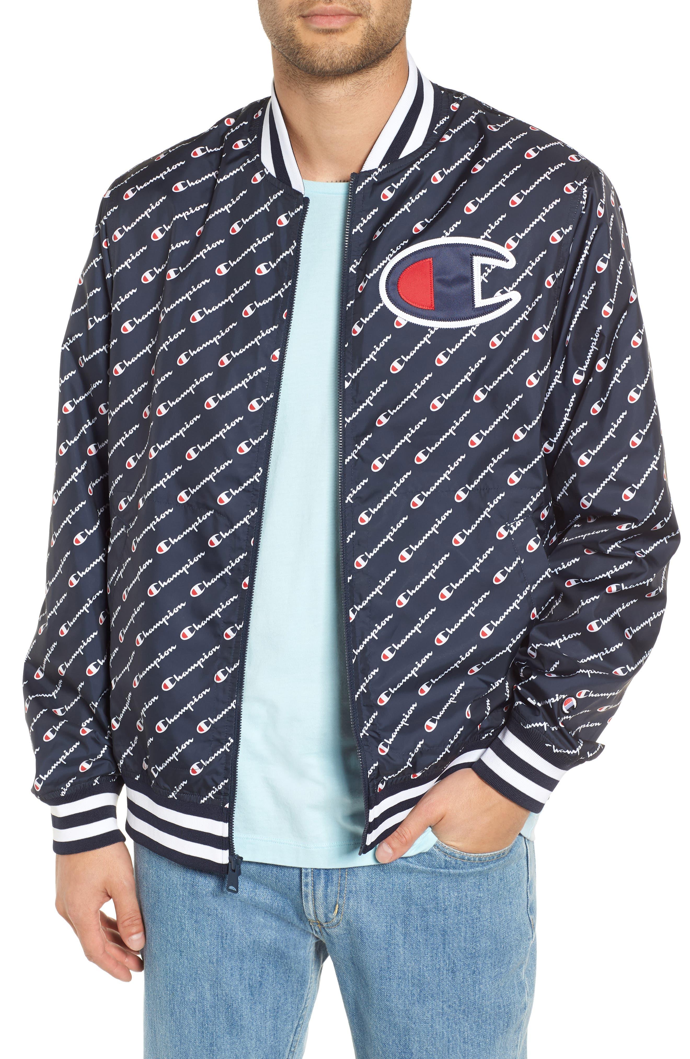 Print Baseball Jacket,                         Main,                         color,