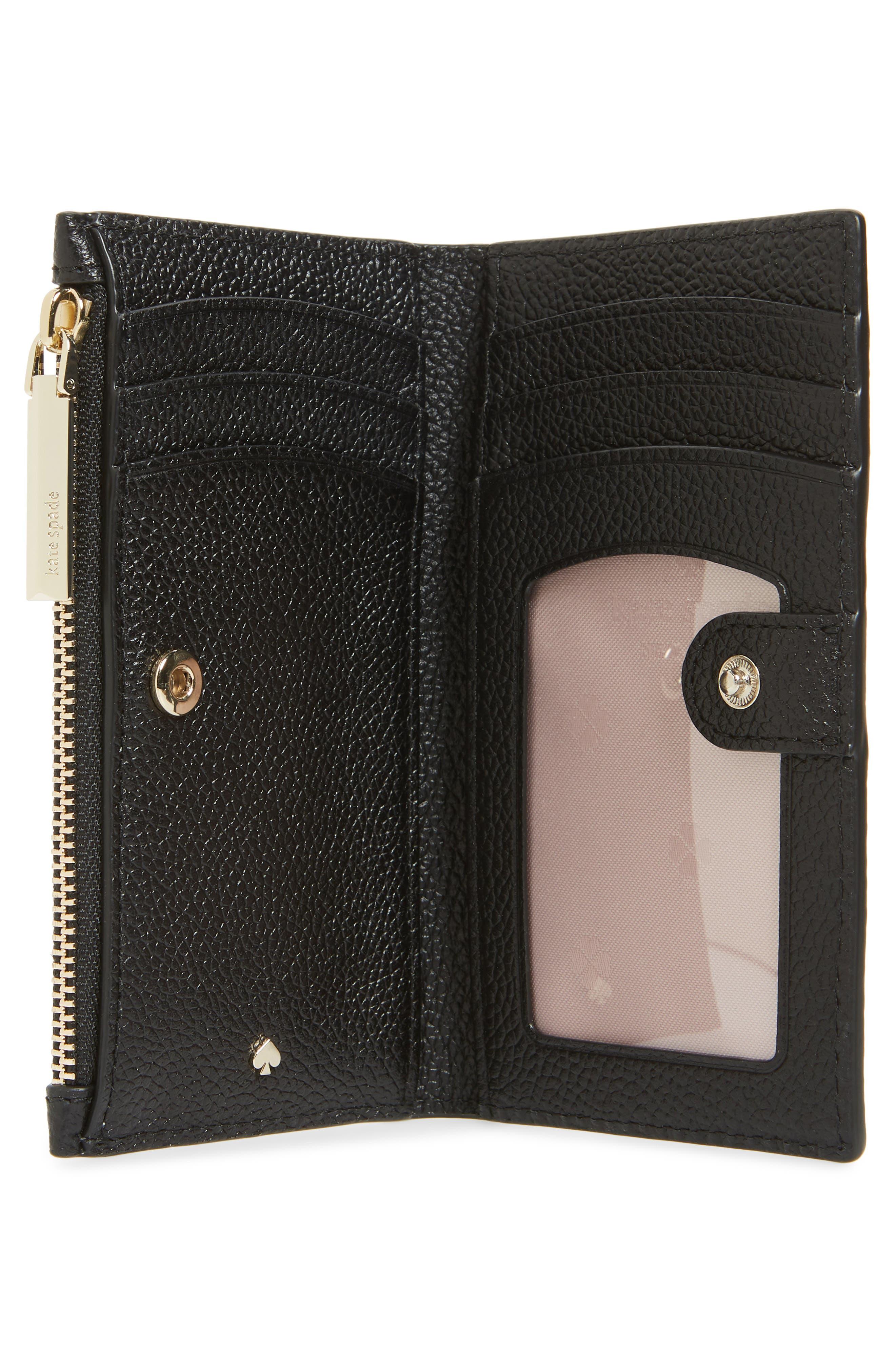 KATE SPADE NEW YORK,                             margaux slim bifold wallet,                             Alternate thumbnail 2, color,                             BLACK
