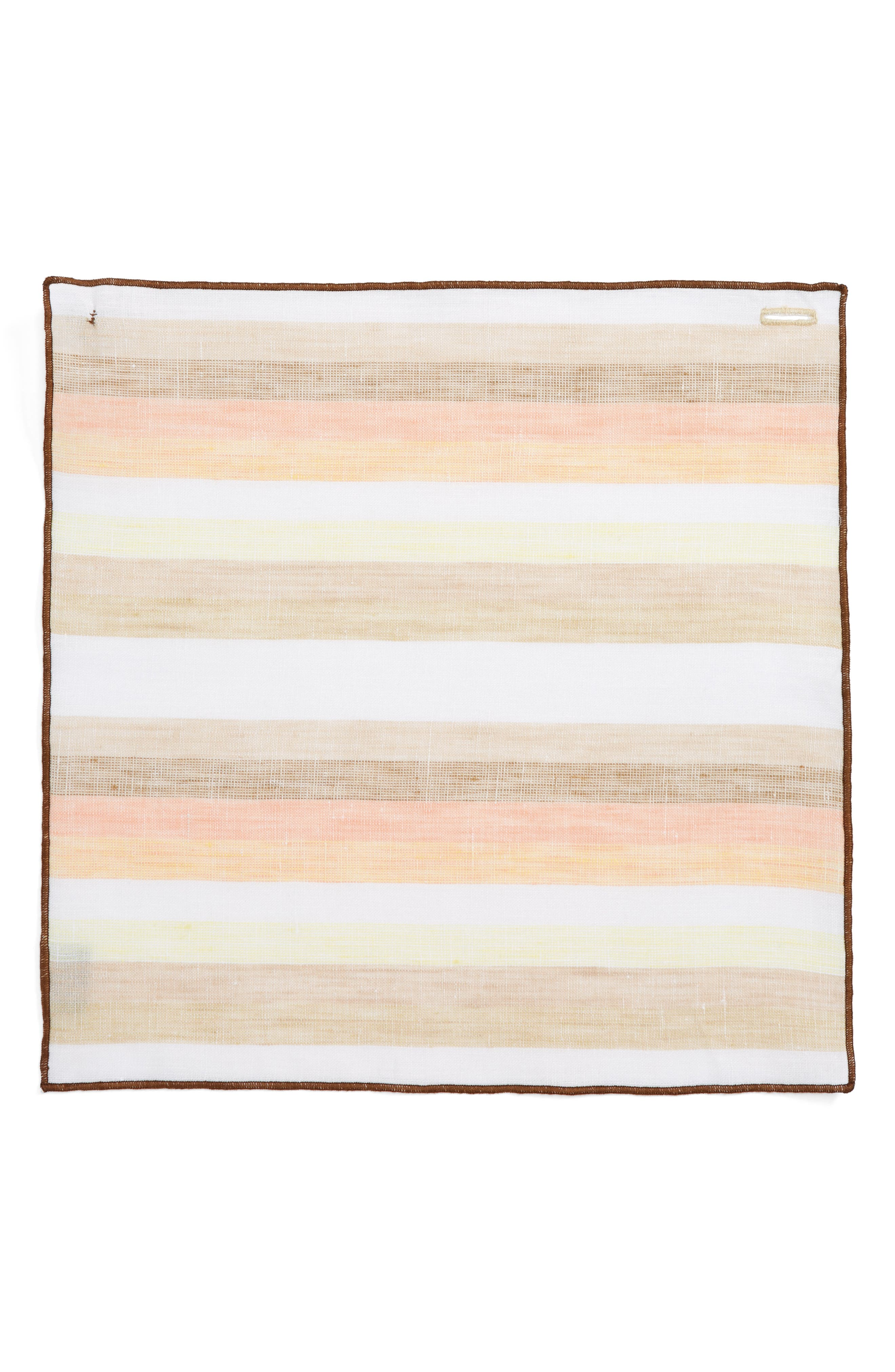 Peach Cake Linen Pocket Square,                             Alternate thumbnail 2, color,                             800