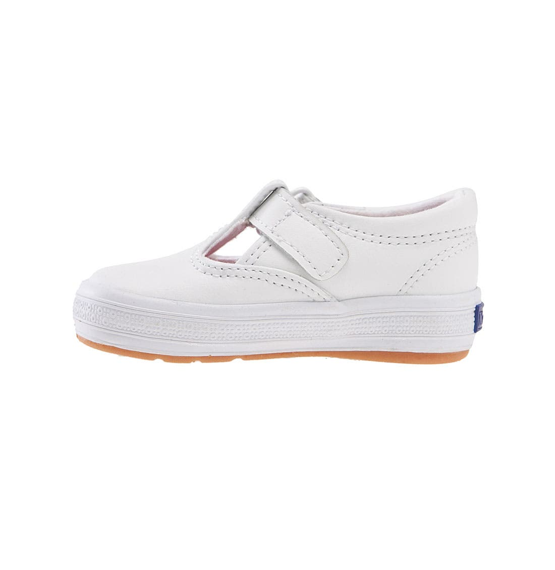 Daphne T-Strap Sneaker,                             Alternate thumbnail 8, color,                             NEW WHITE