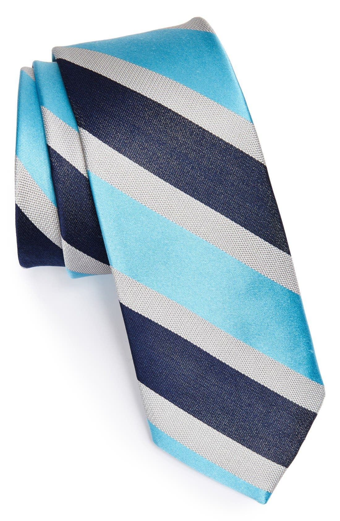 Woven Silk Tie,                         Main,                         color, 400
