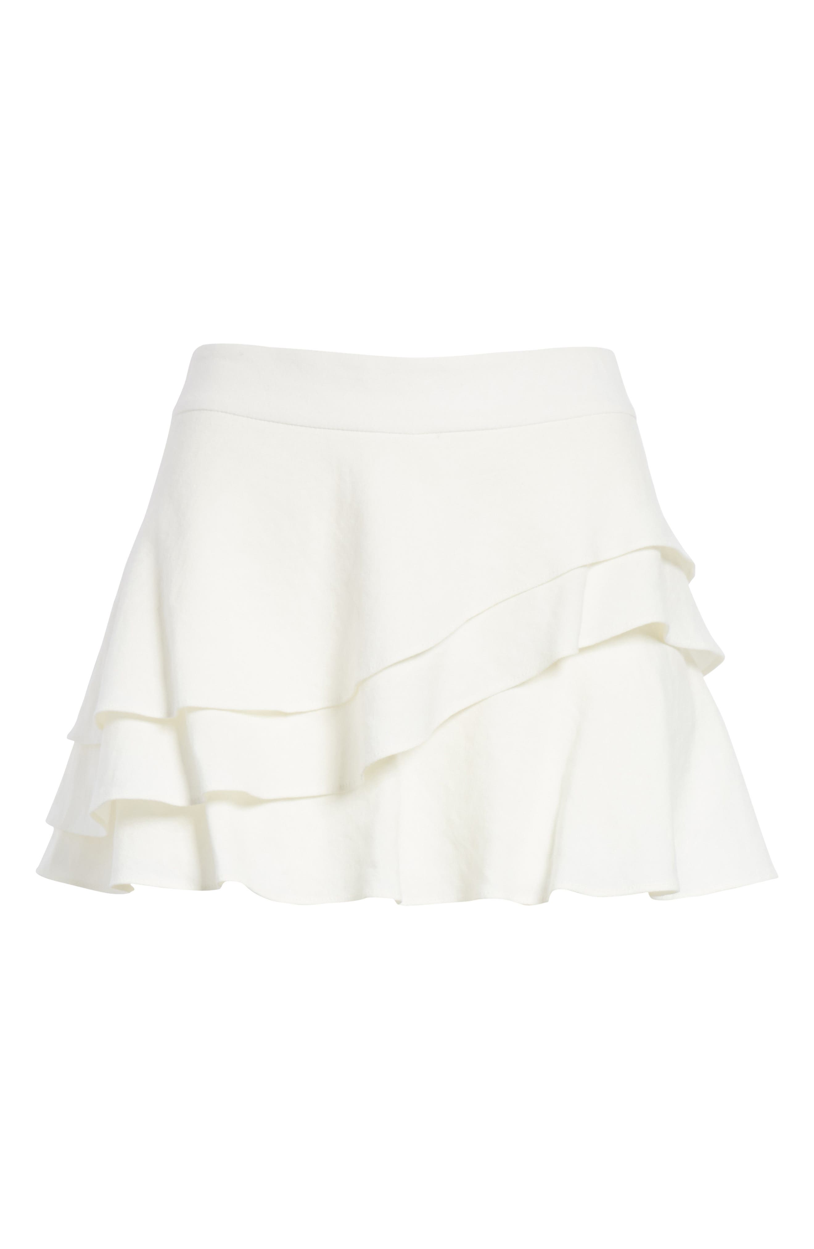 ALICE + OLIVIA,                             Mariella Tiered Ruffle Skort,                             Alternate thumbnail 6, color,                             127