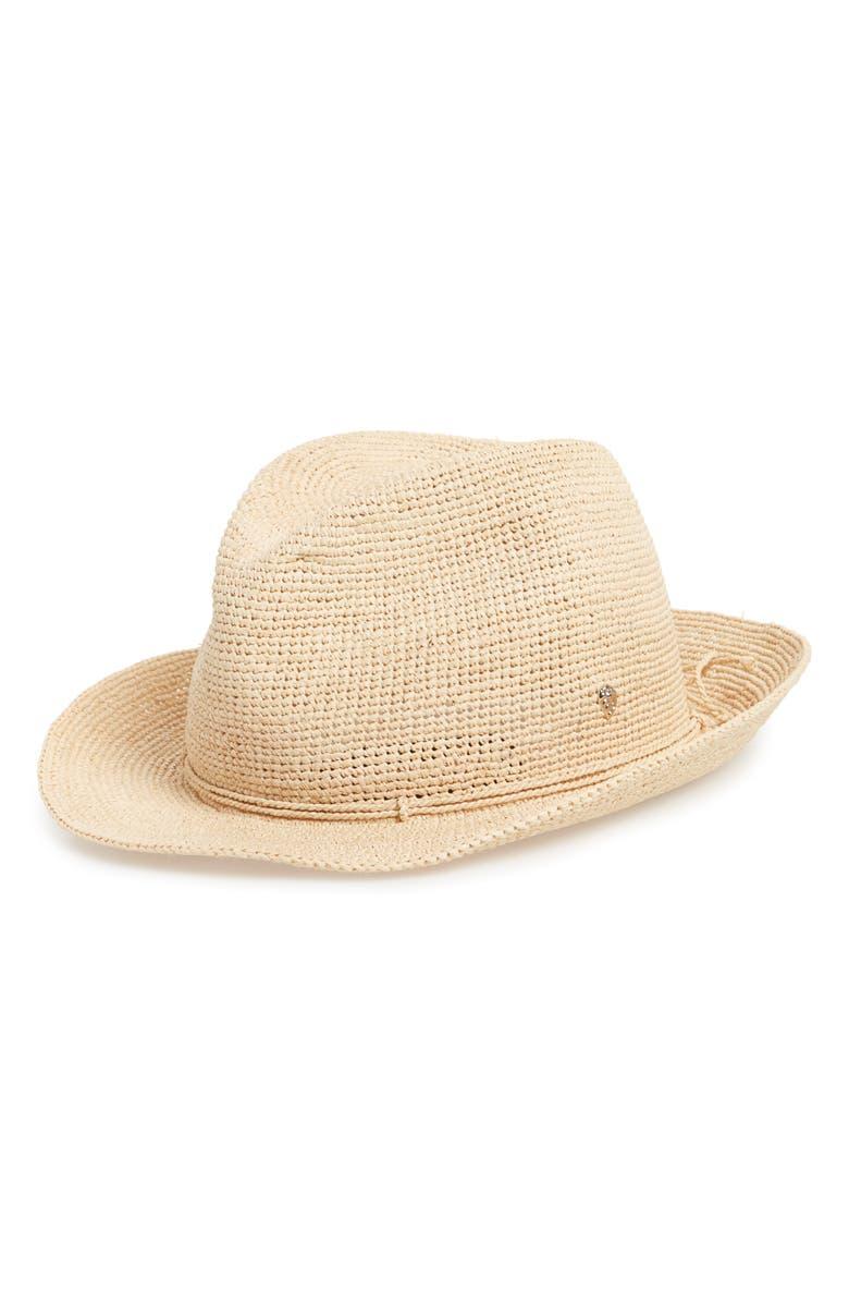 c5e2c9fc84743 Helen Kaminski Raffia Crochet Packable Sun Hat - Beige In Natural ...