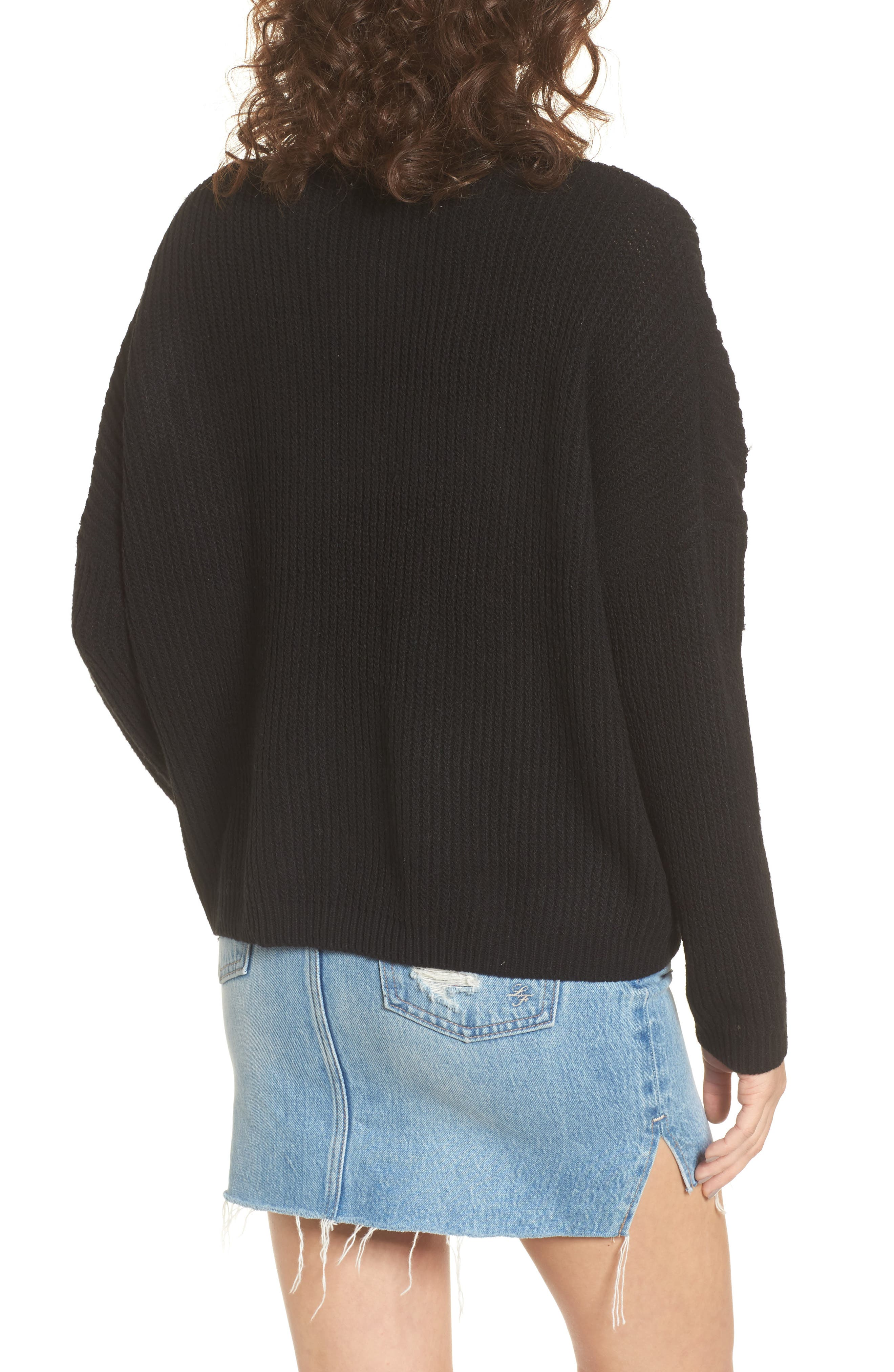 Embroidered Floral Sweater,                             Alternate thumbnail 2, color,                             001