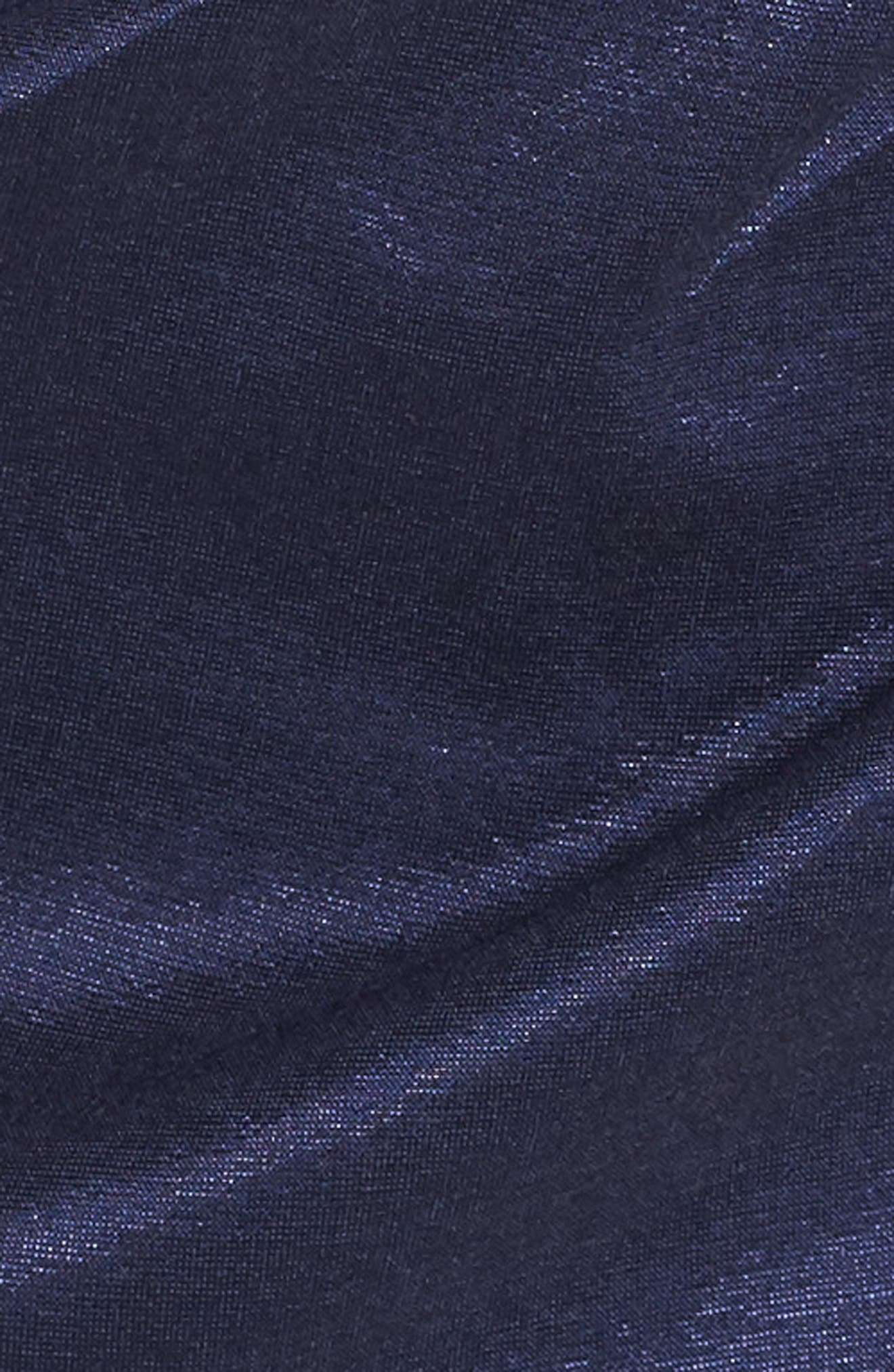 Off the Shoulder Bow Dress,                             Alternate thumbnail 6, color,                             NAVY