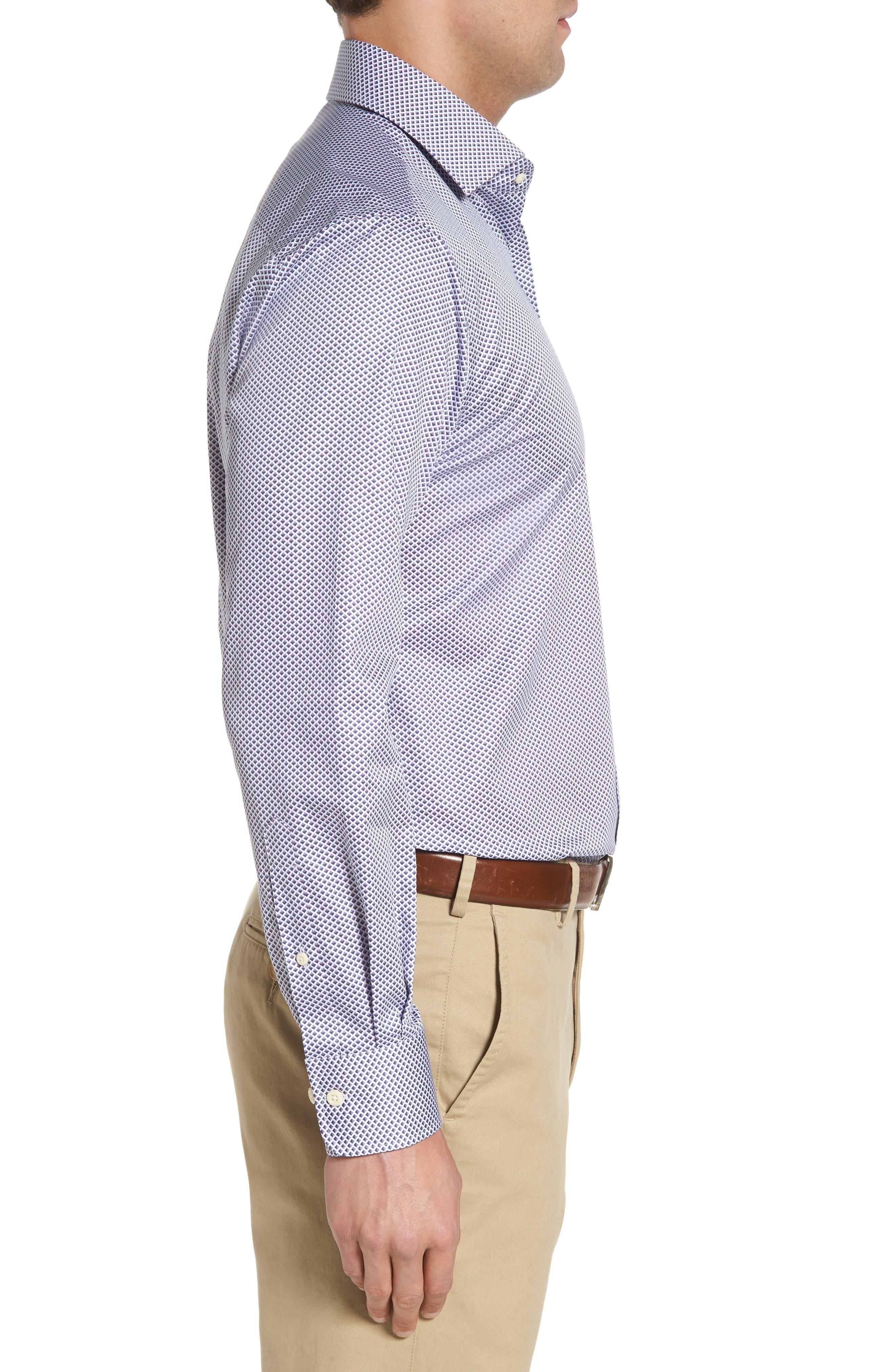 Geometric Horizon Sport Shirt,                             Alternate thumbnail 3, color,                             627