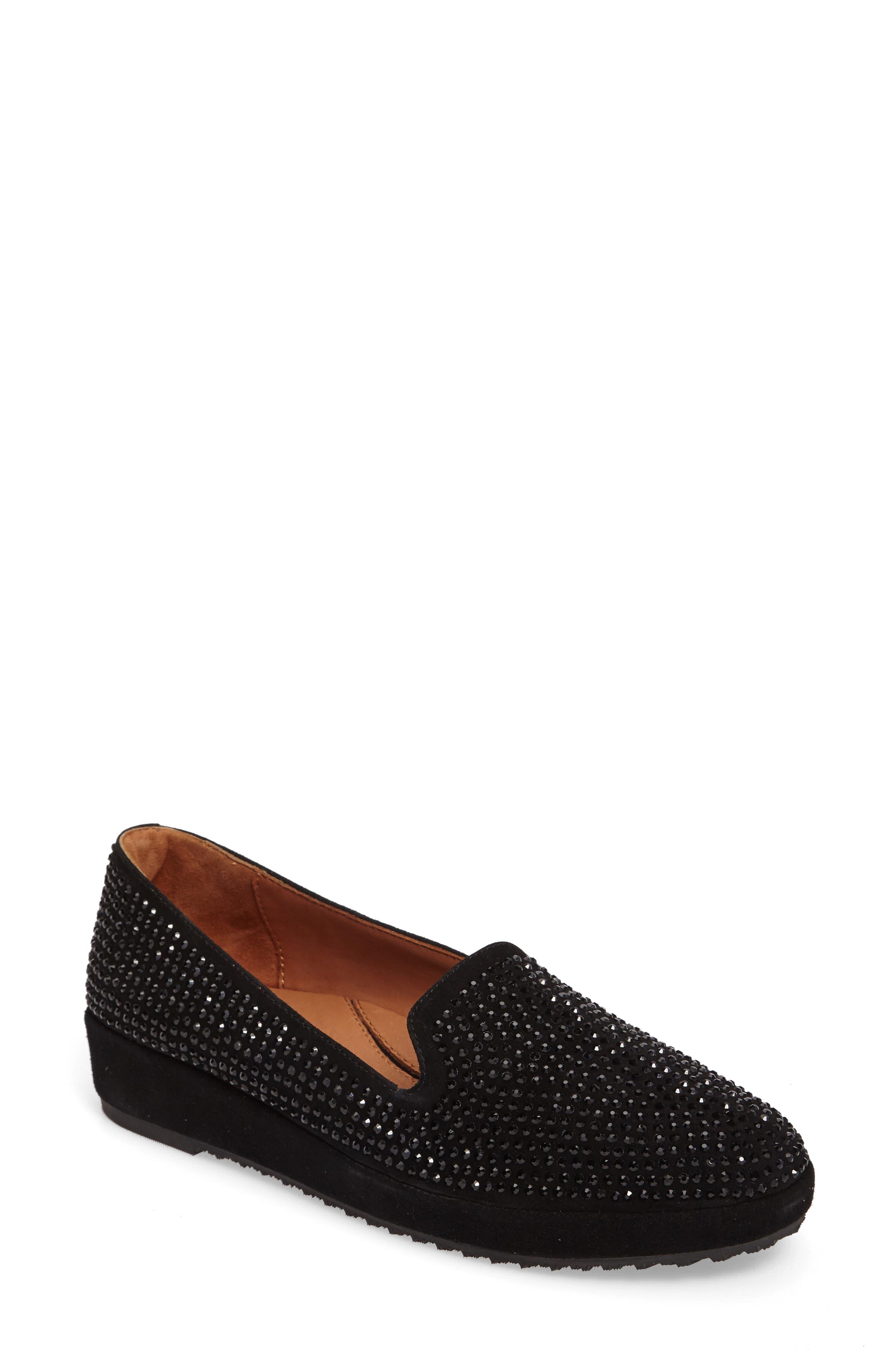Correze Wedge Slip-On,                         Main,                         color, BLACK SUEDE