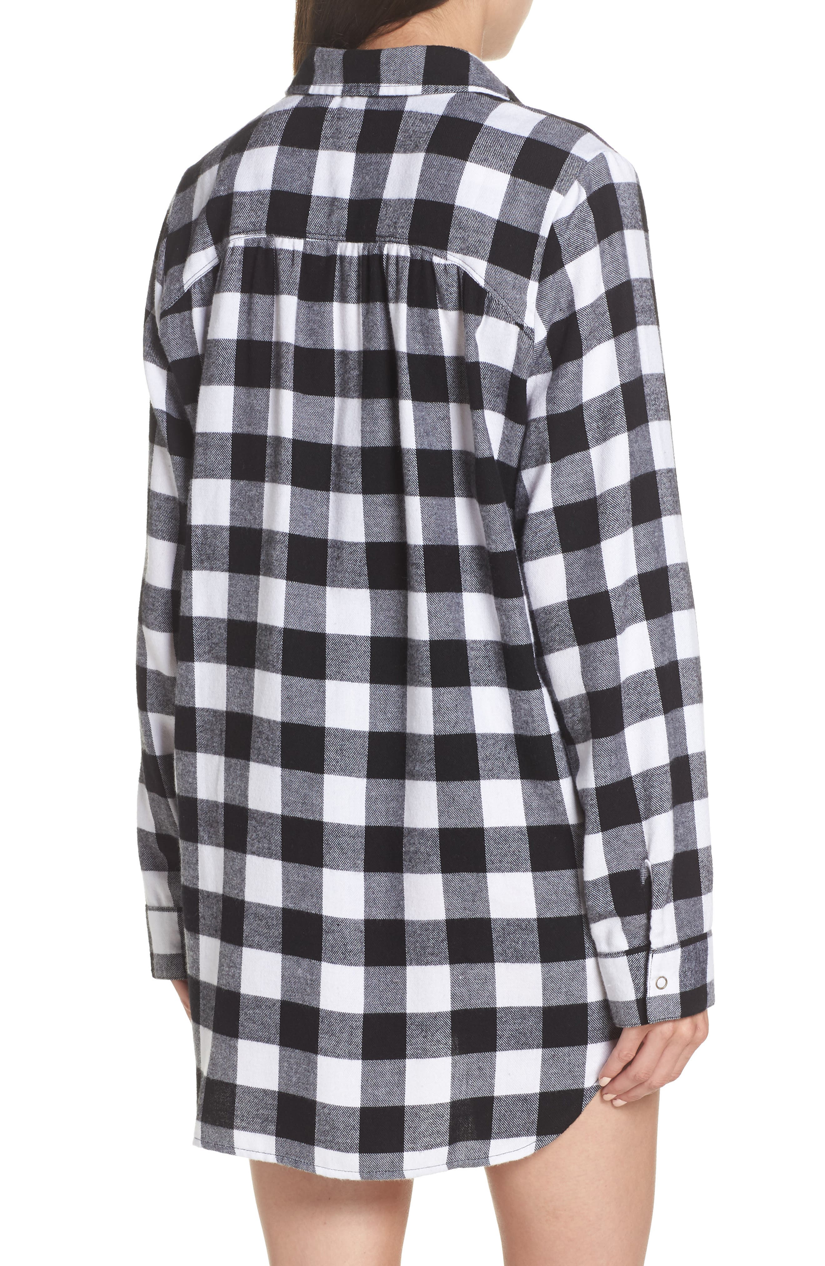 Flannel Nightshirt,                             Alternate thumbnail 2, color,                             002