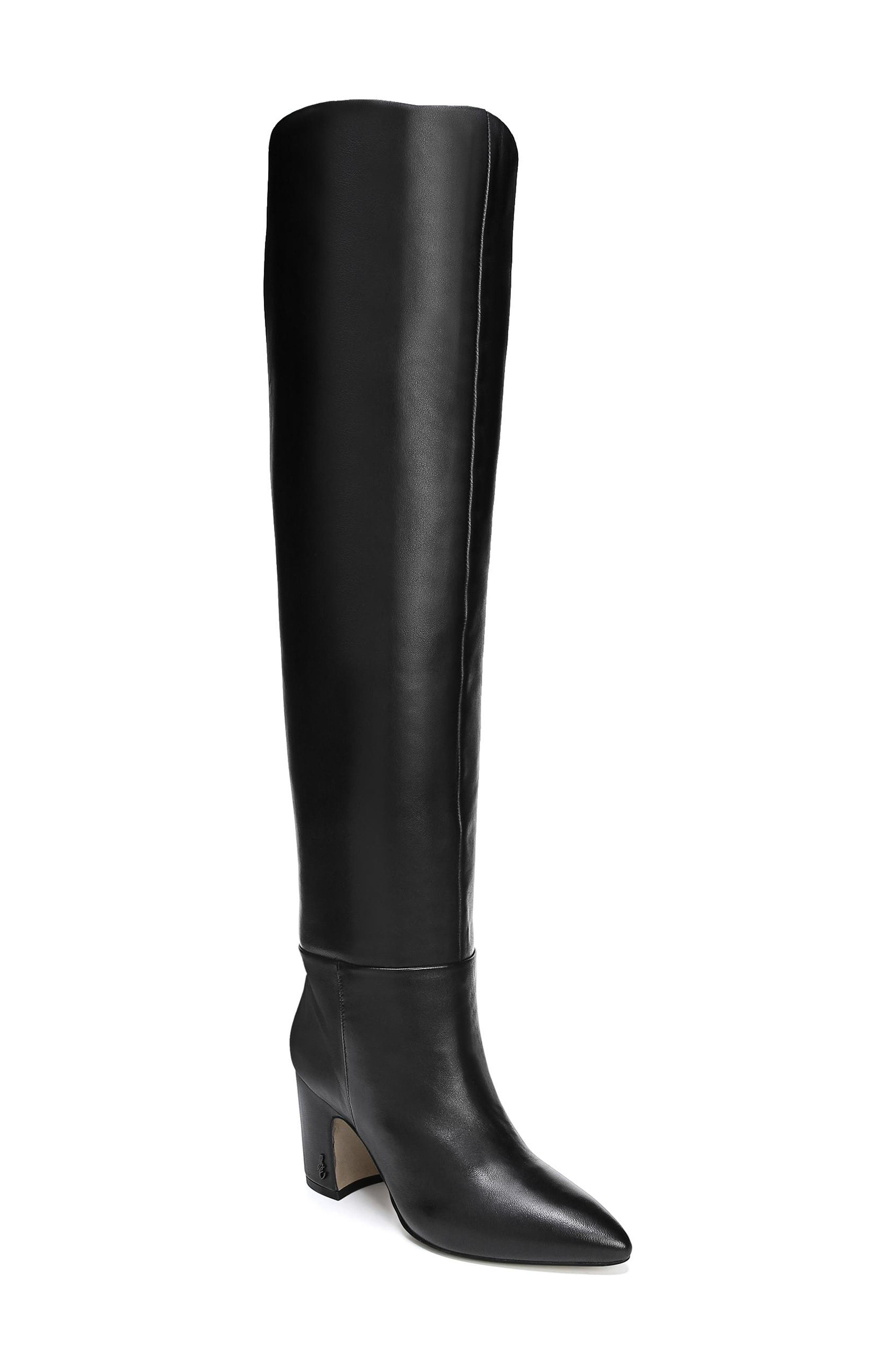 Hutton Boot,                         Main,                         color, BLACK LEATHER