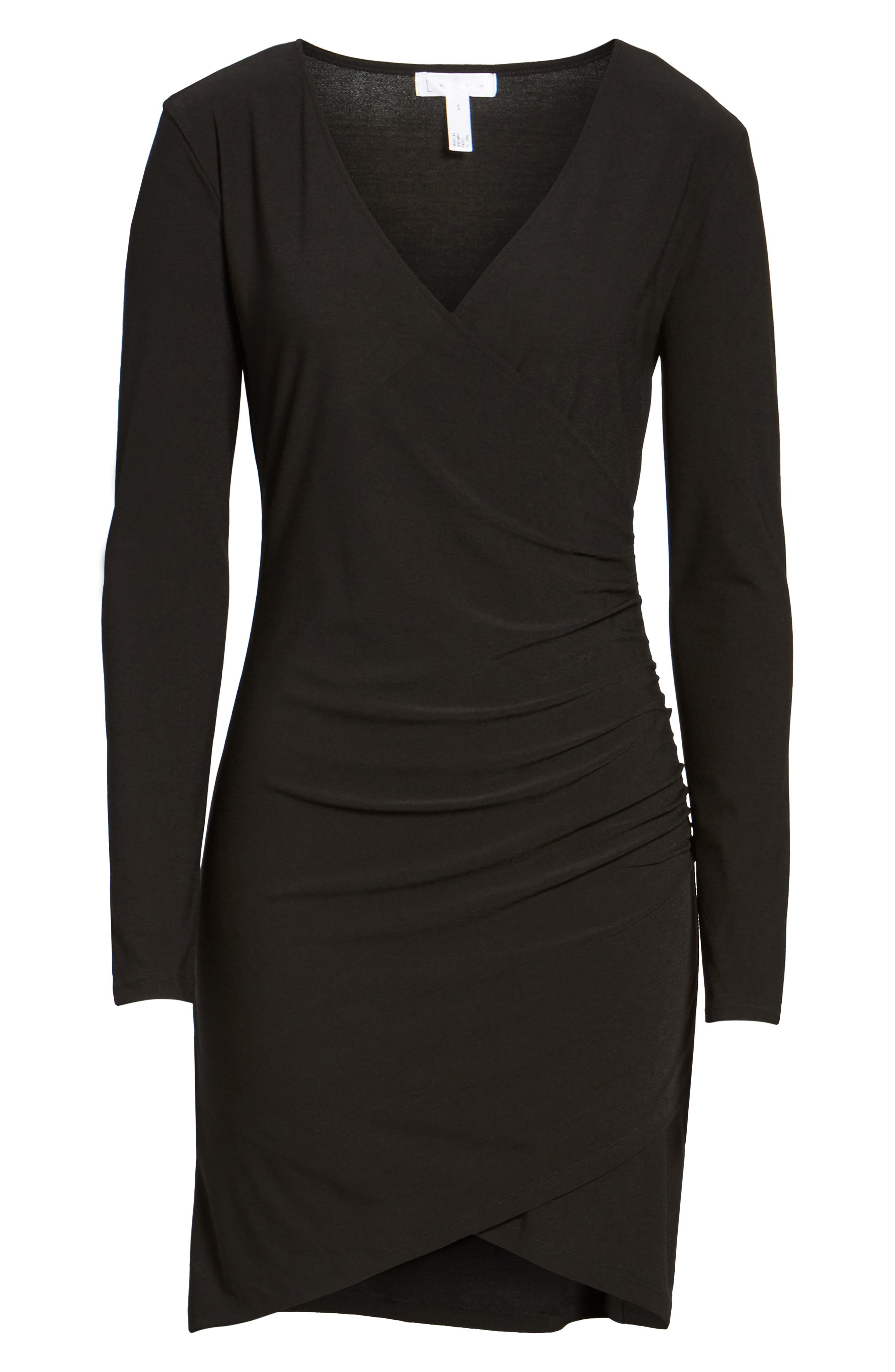 Ruched Sheath Dress,                             Alternate thumbnail 6, color,                             001