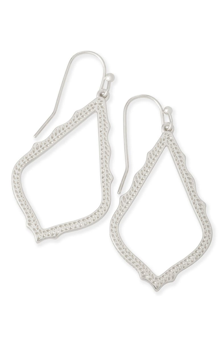KENDRA SCOTT Sophia Drop Earrings, Main, color, SILVER
