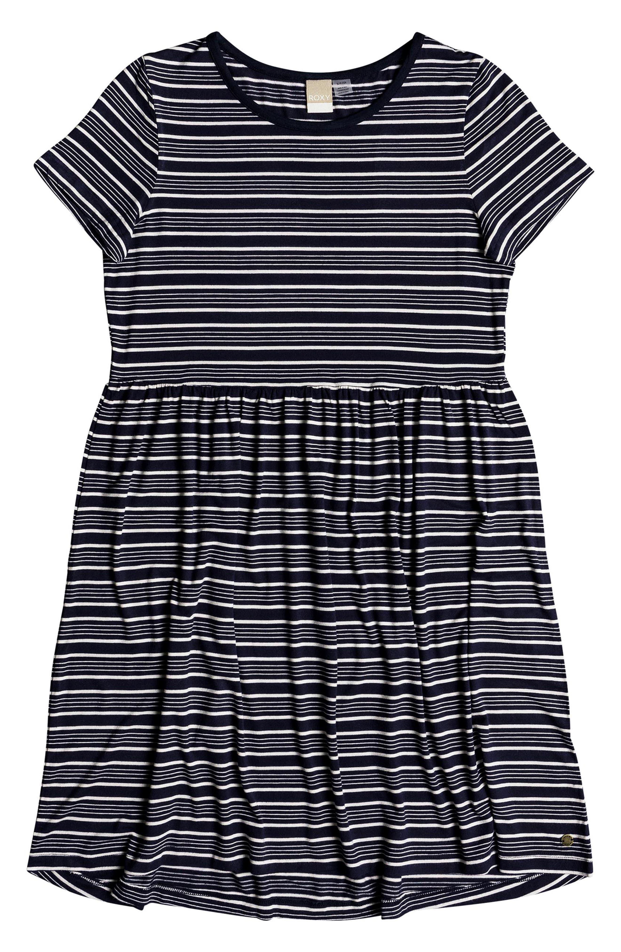 Fame For Glory Stripe T-Shirt Dress,                             Alternate thumbnail 3, color,                             400
