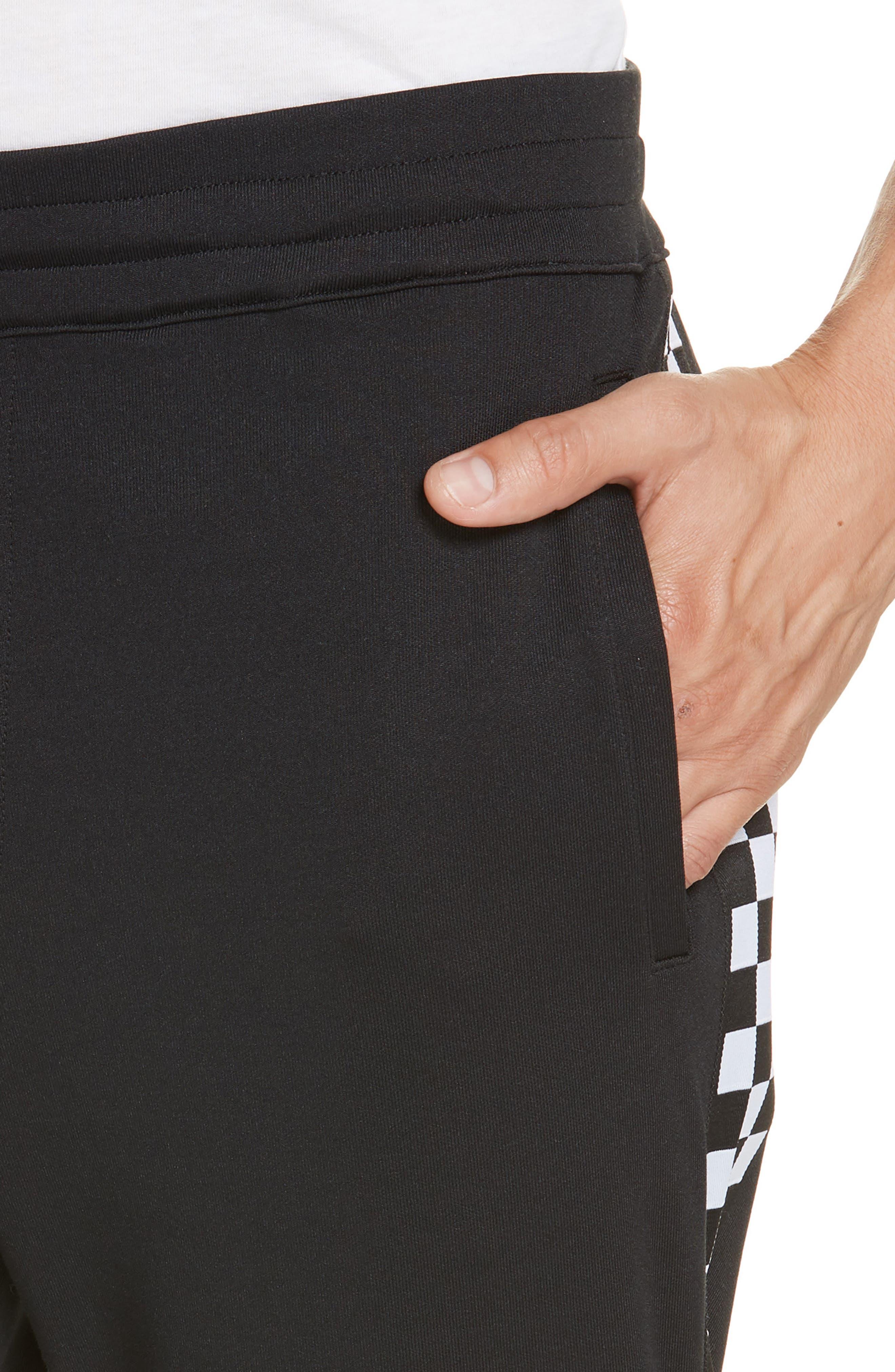 Check Track Pants,                             Alternate thumbnail 4, color,                             001