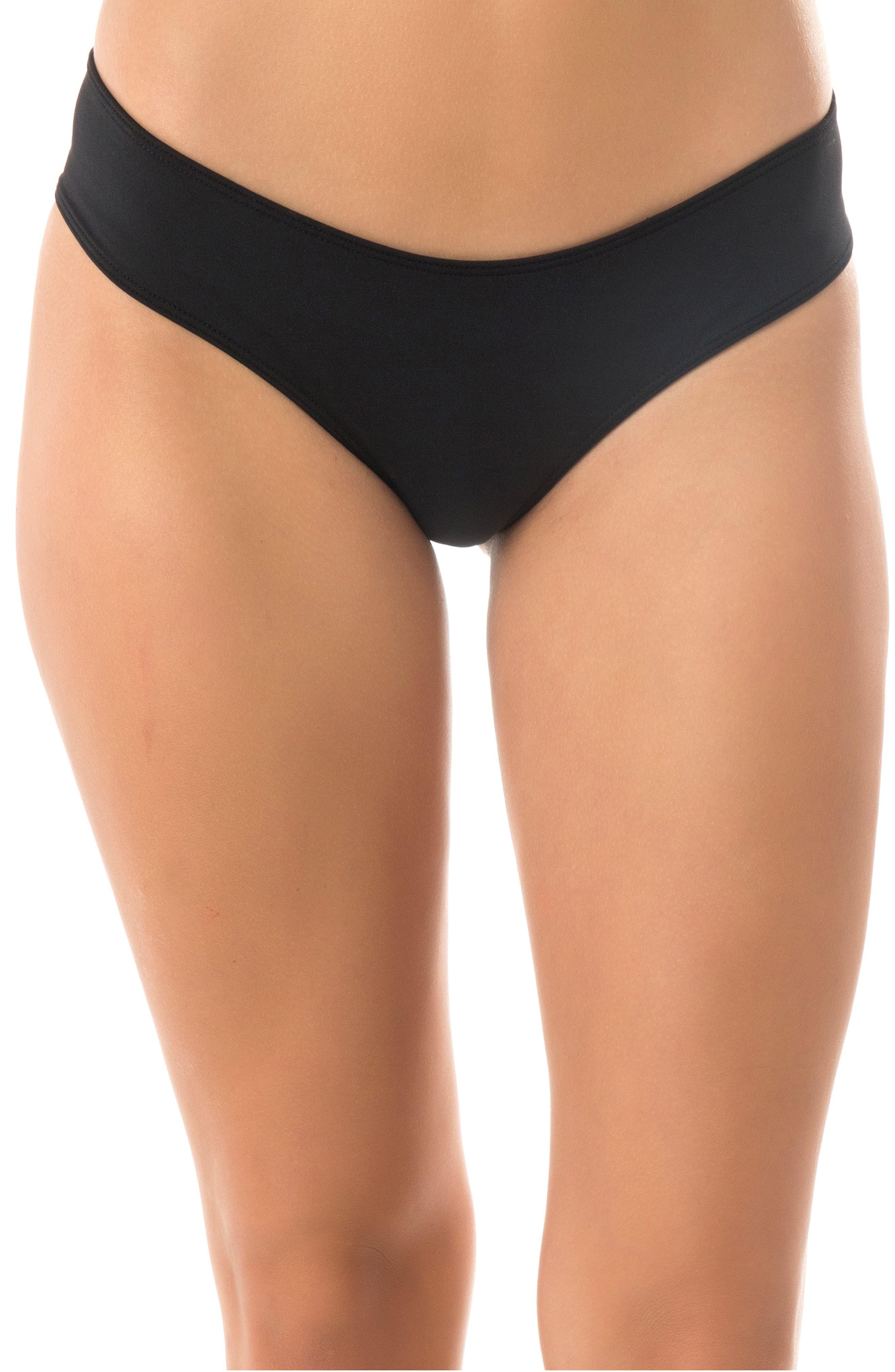 Salt Water Solids Hipster Bikini Bottoms,                             Main thumbnail 1, color,                             BLACK