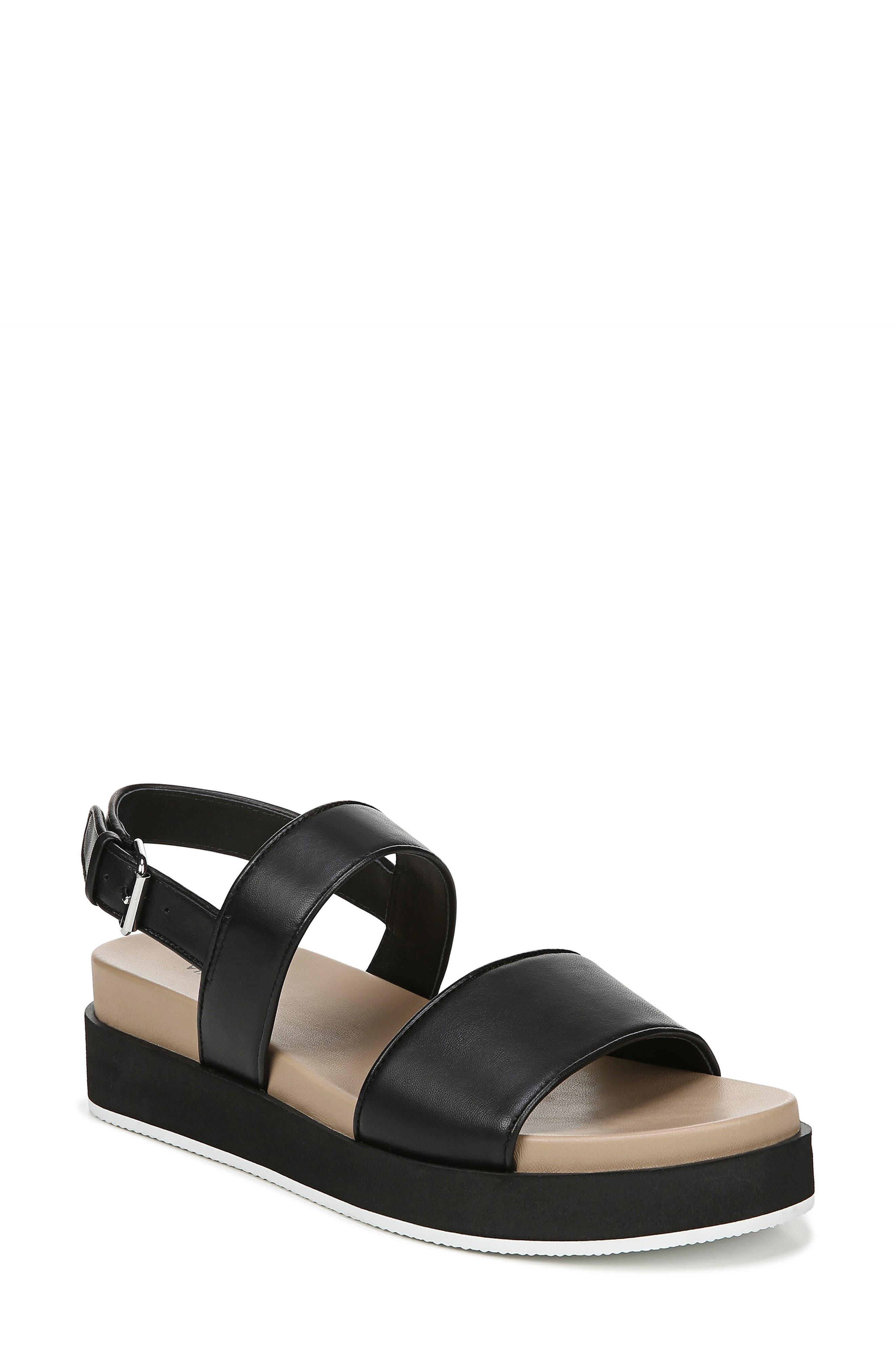 VIA SPIGA,                             Davi Platform Sandal,                             Main thumbnail 1, color,                             BLACK