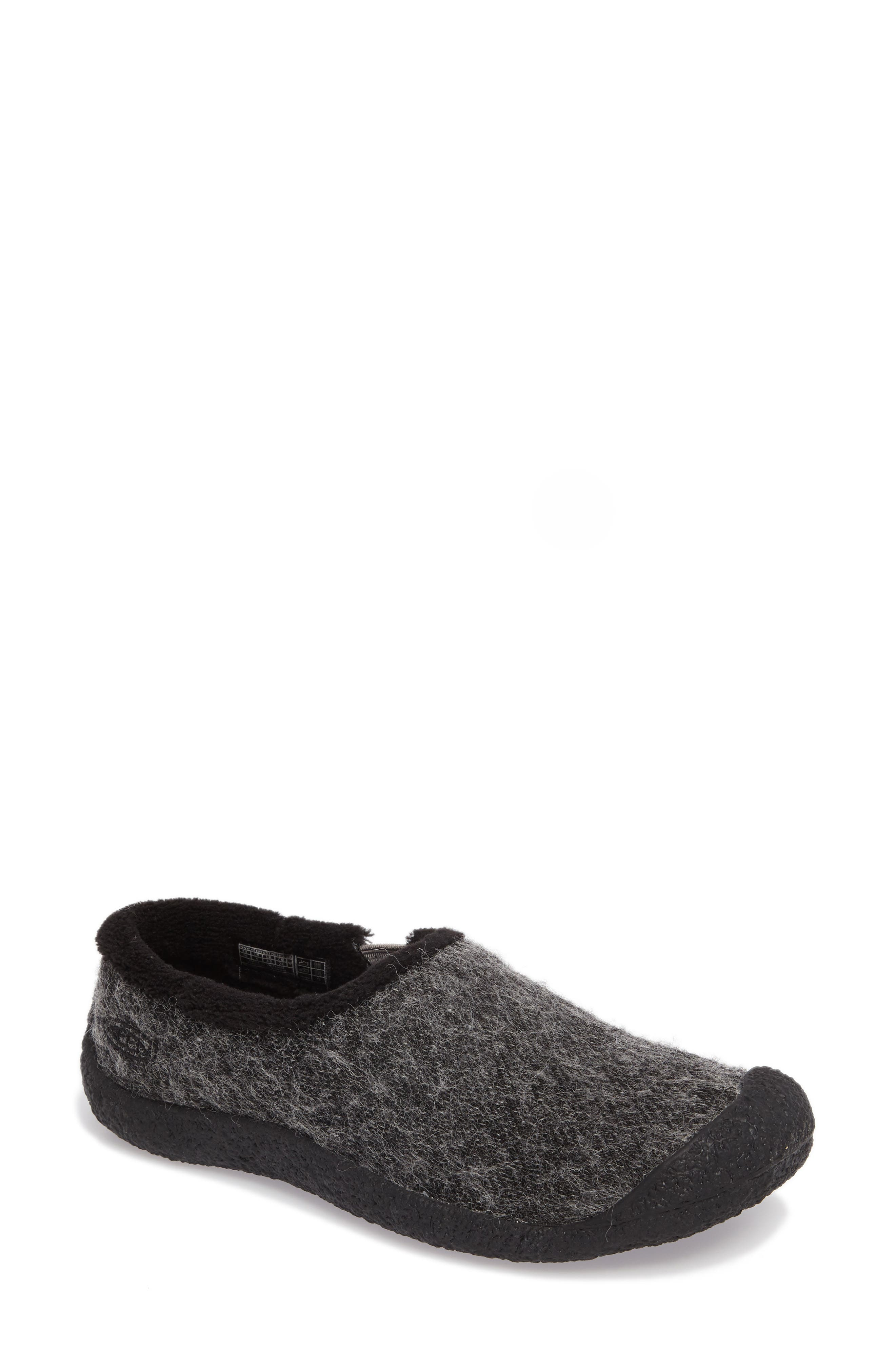 Howser Round Toe Wool Slip-on,                             Main thumbnail 1, color,                             001