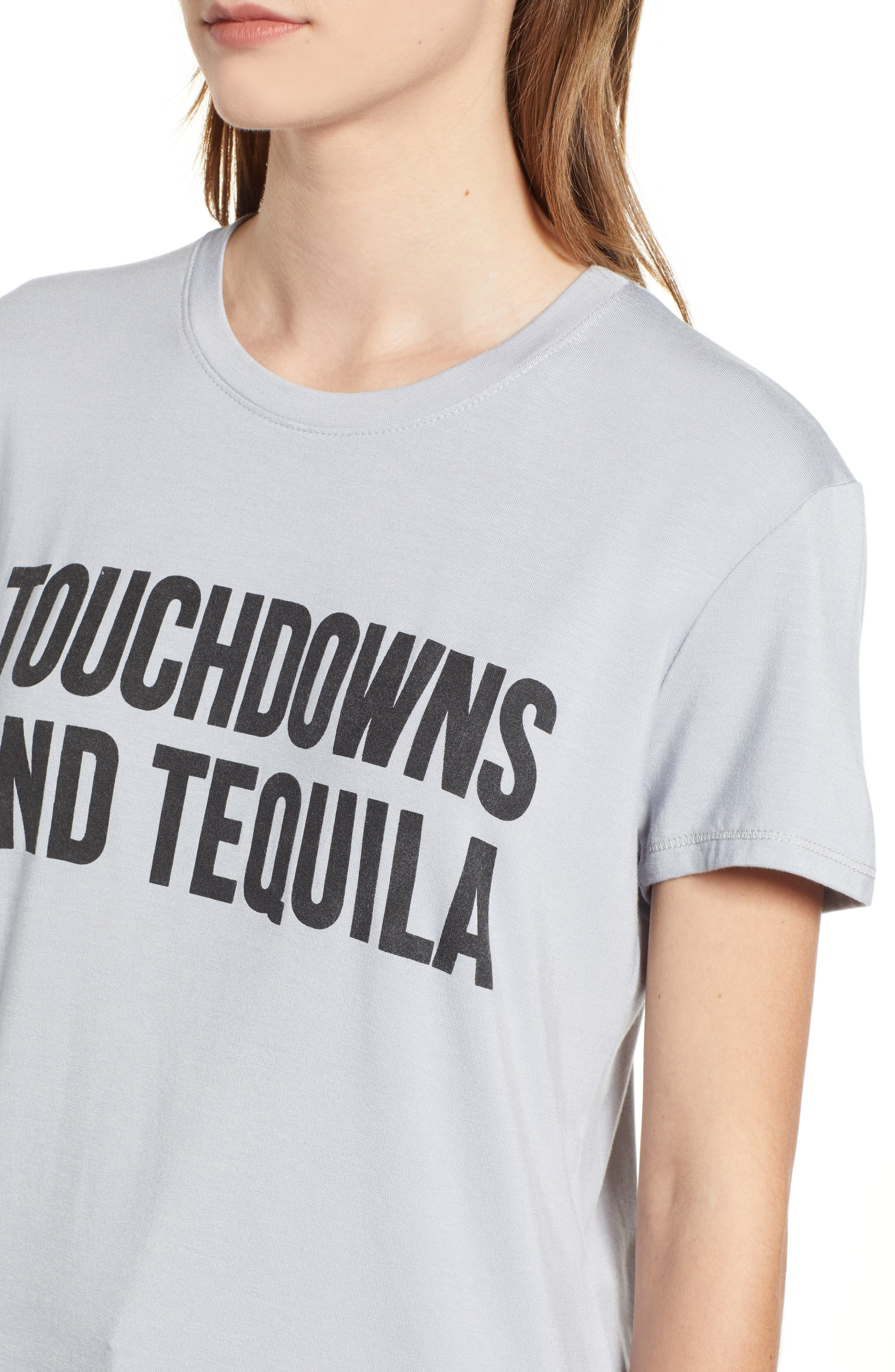 Touchdowns & Tequila Tee,                             Alternate thumbnail 4, color,                             GREY