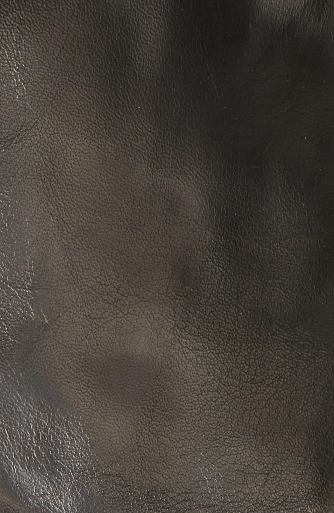 Short Leather Gloves,                             Alternate thumbnail 2, color,                             001