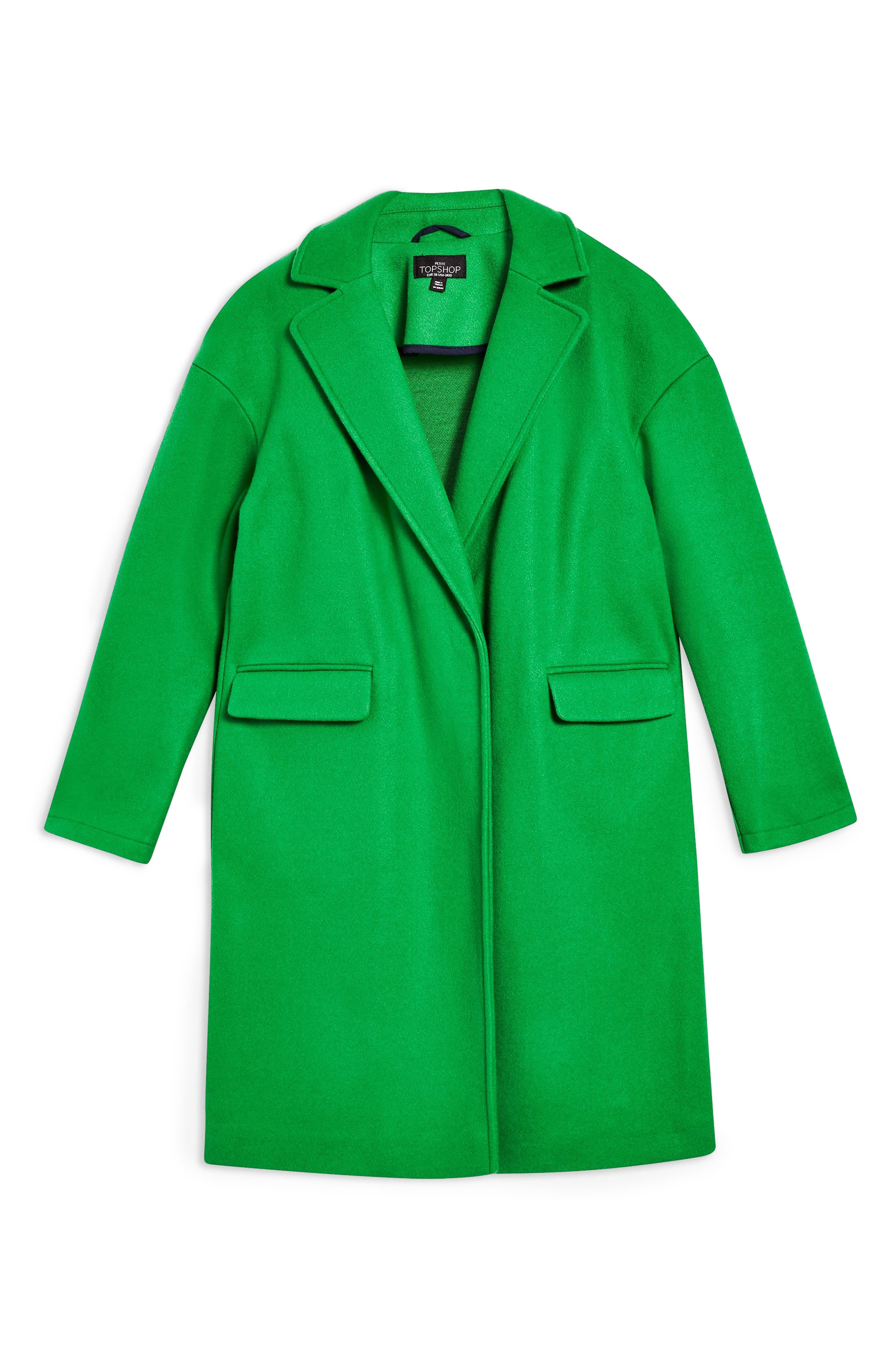 Lily Knit Back Midi Coat,                             Alternate thumbnail 4, color,                             BRIGHT GREEN
